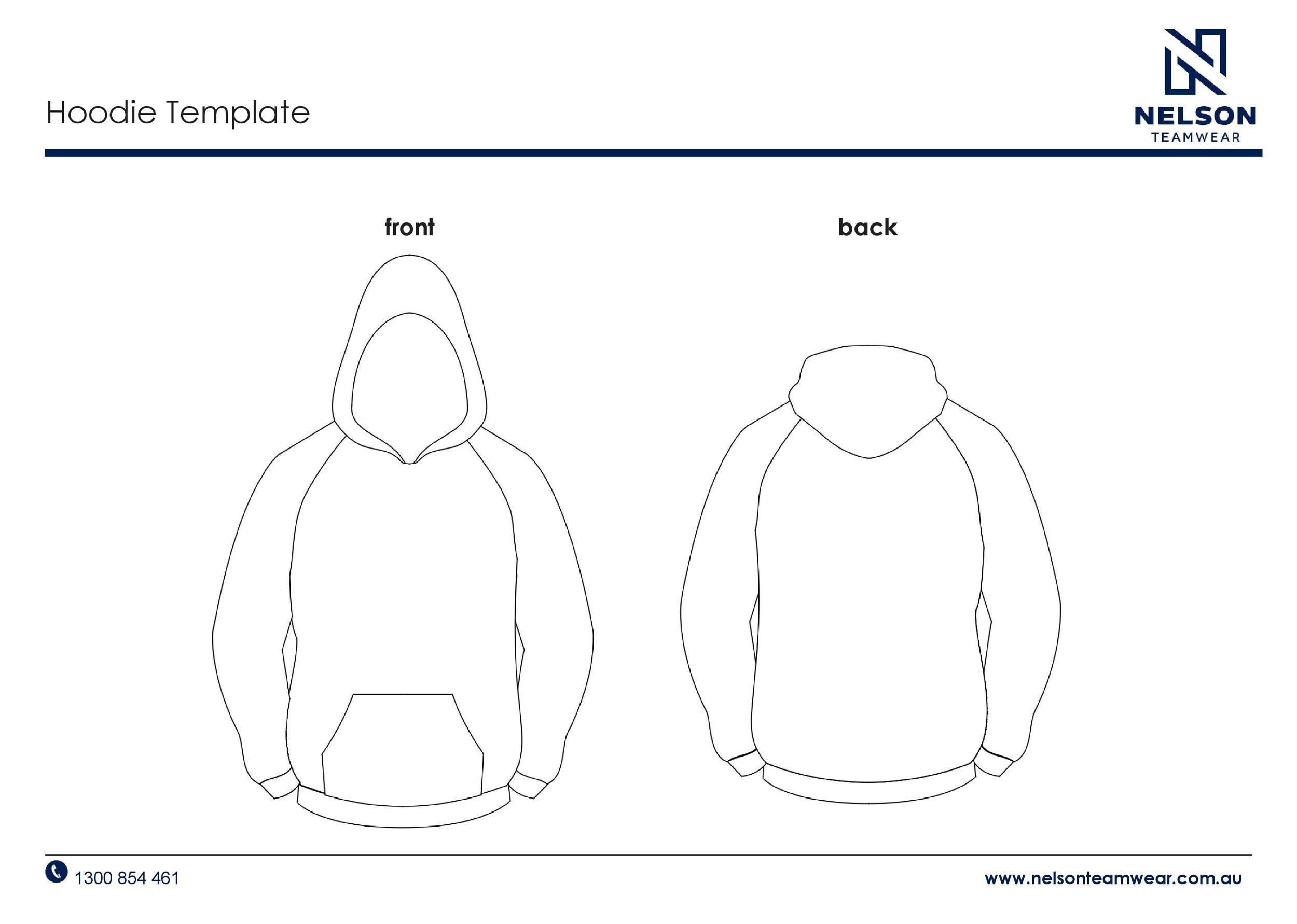 Free hoodie template 02