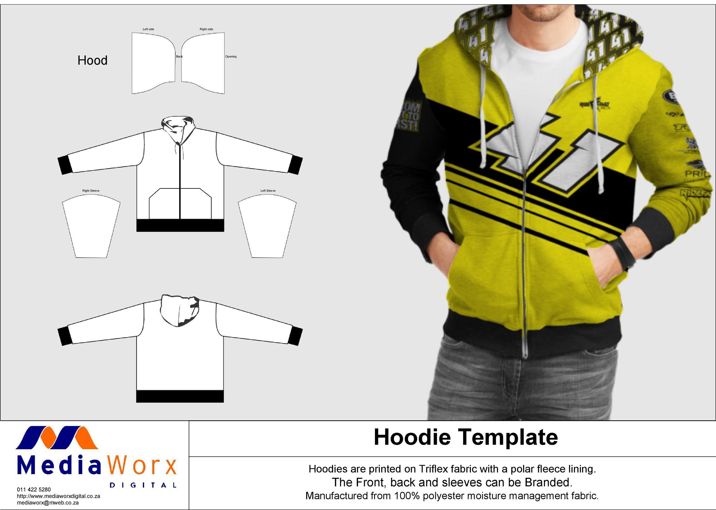 Free hoodie template 04