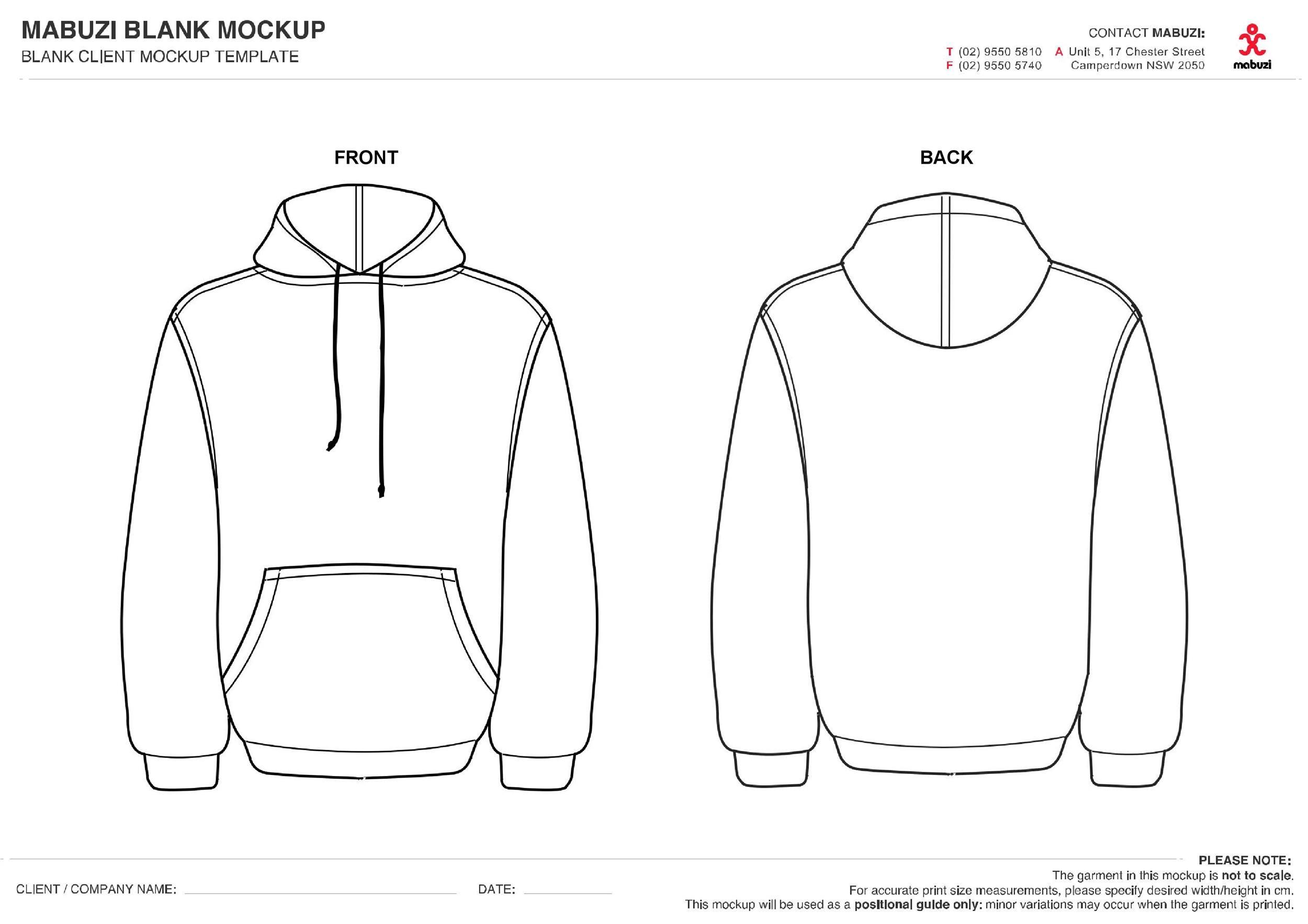 Free hoodie template 05