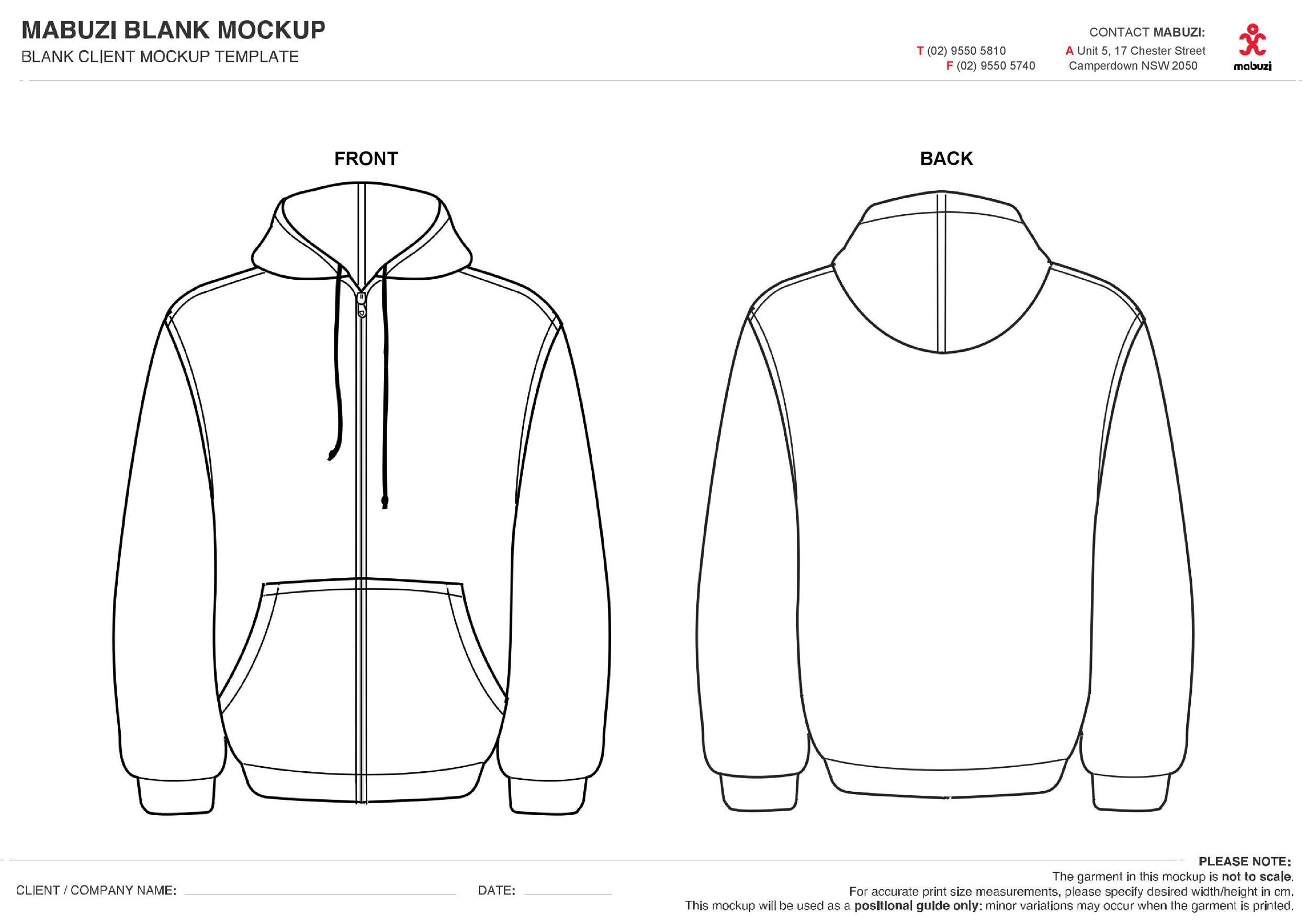 Free hoodie template 06