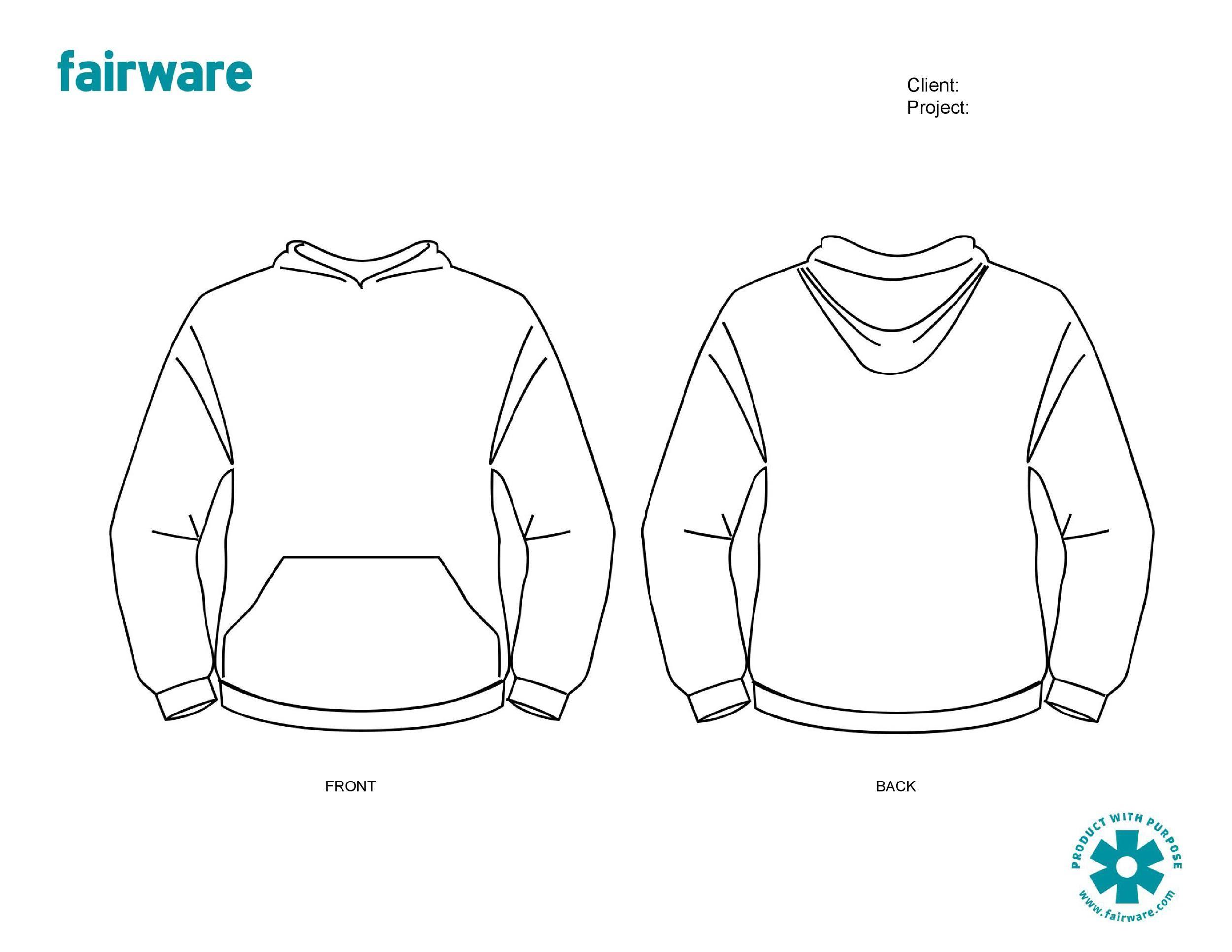 Free hoodie template 07