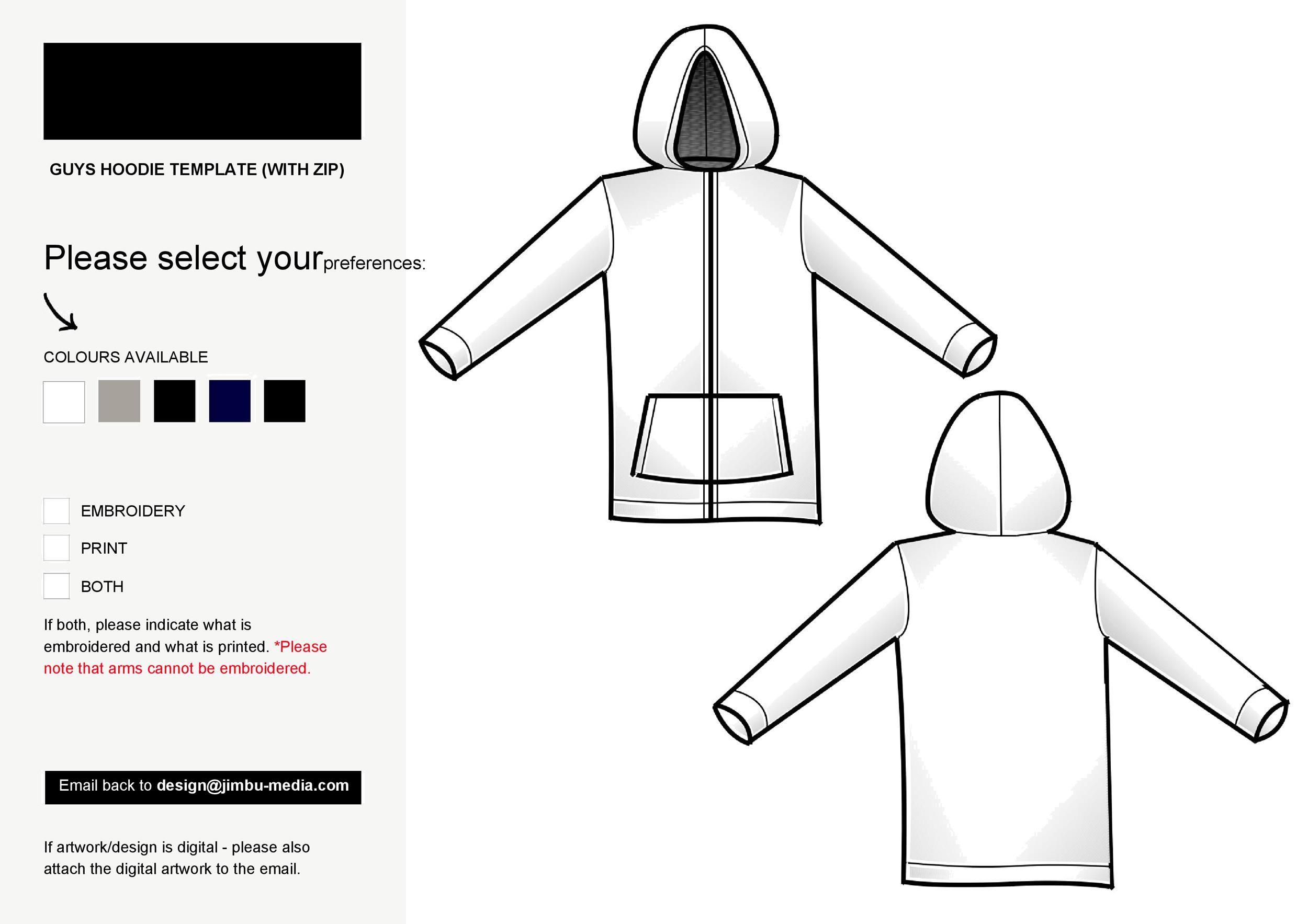 Free hoodie template 12