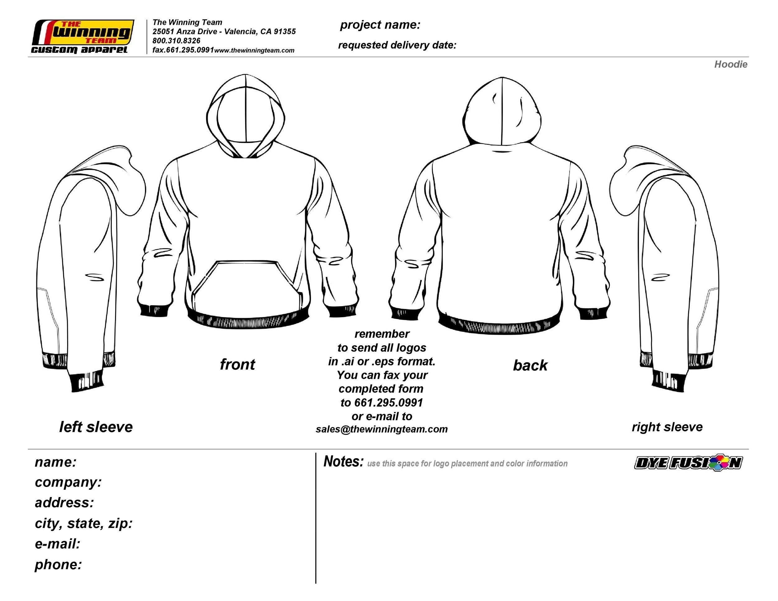 Free hoodie template 13