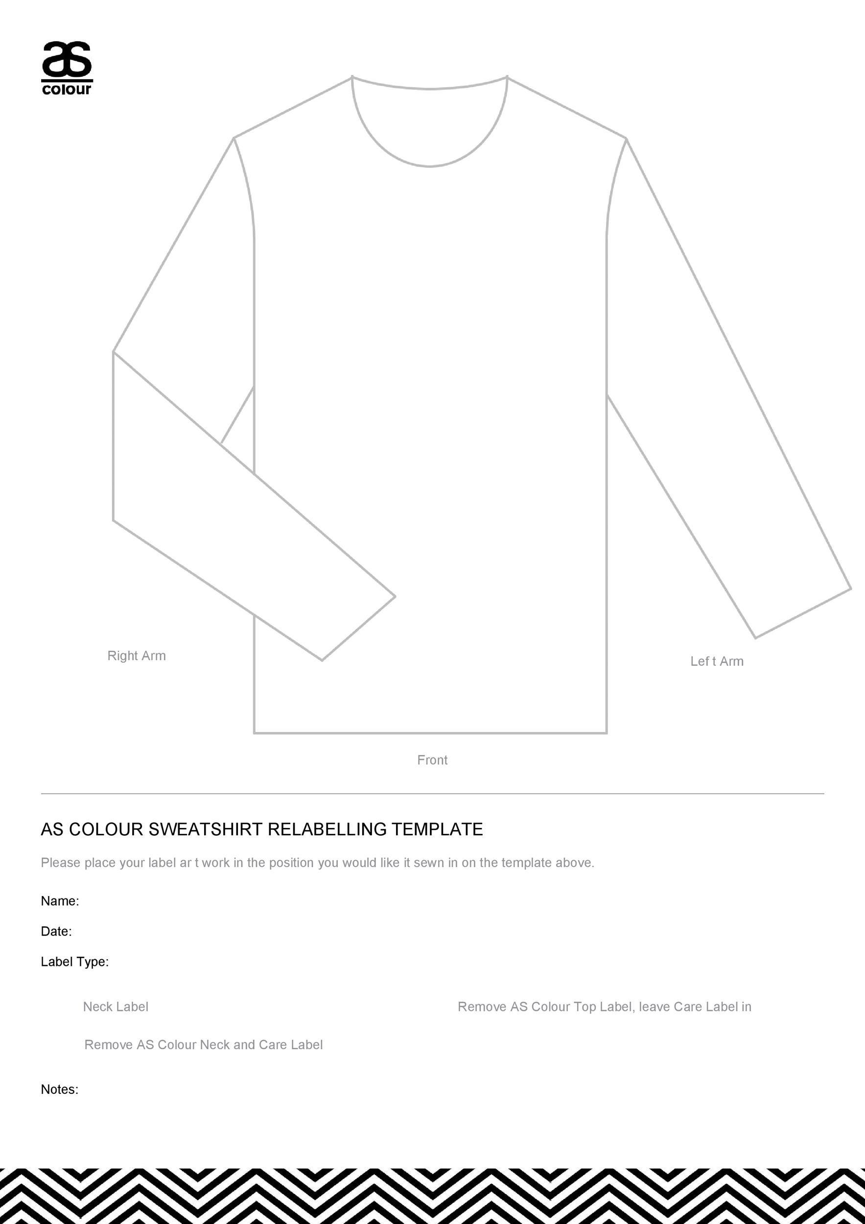 Free hoodie template 16