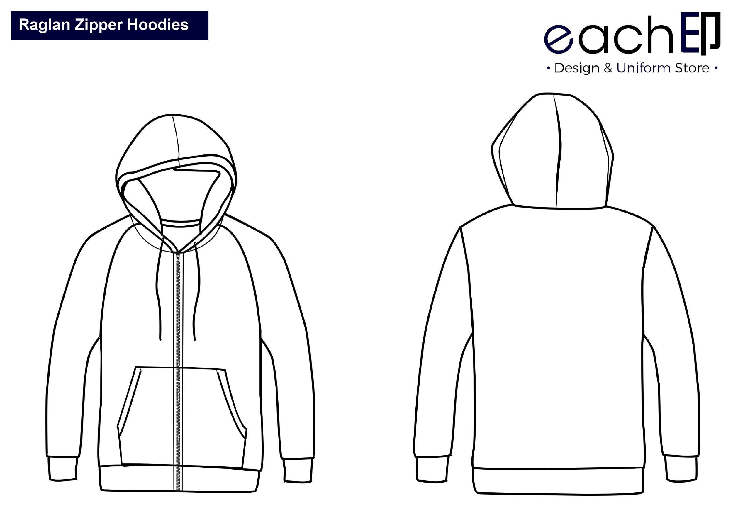 Free hoodie template 19