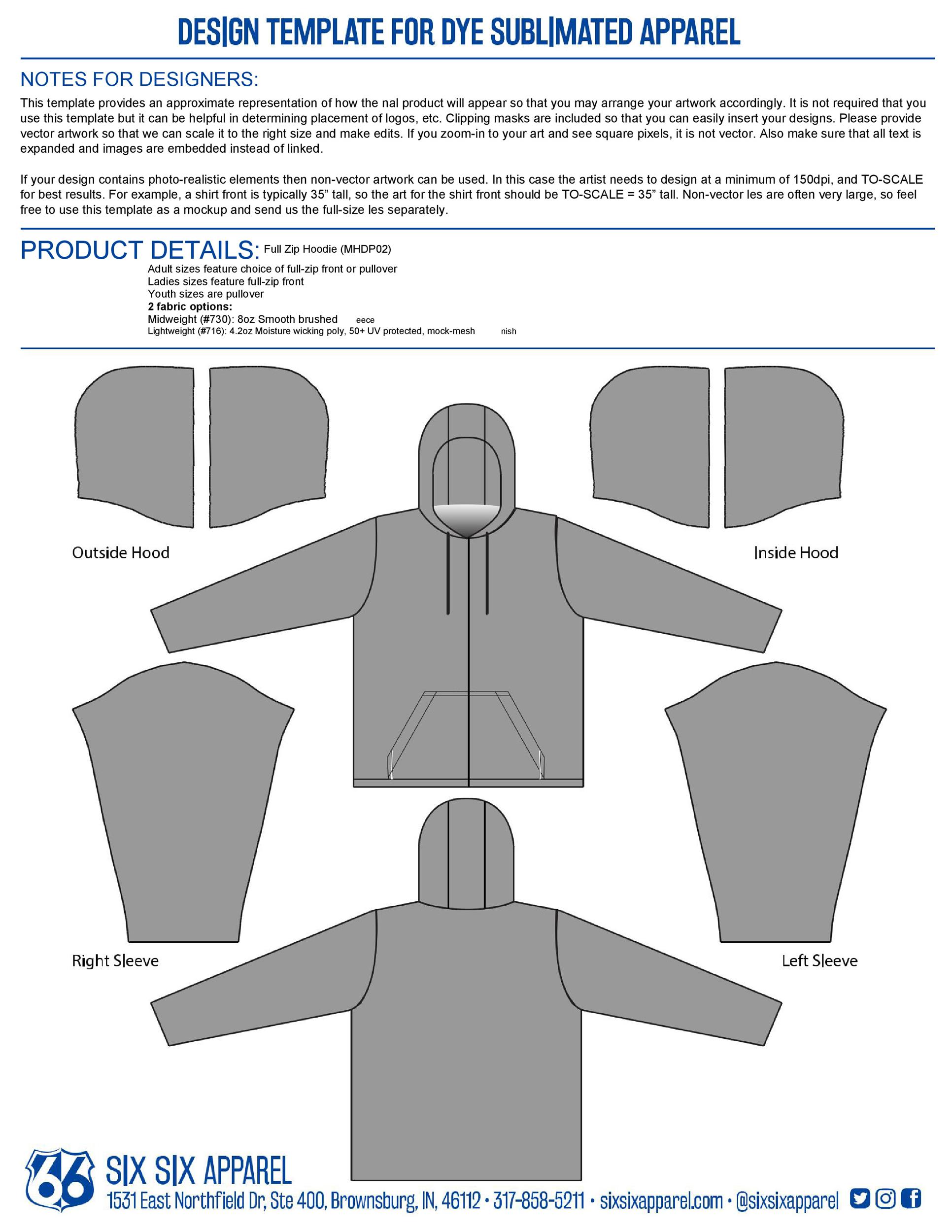 Free hoodie template 21