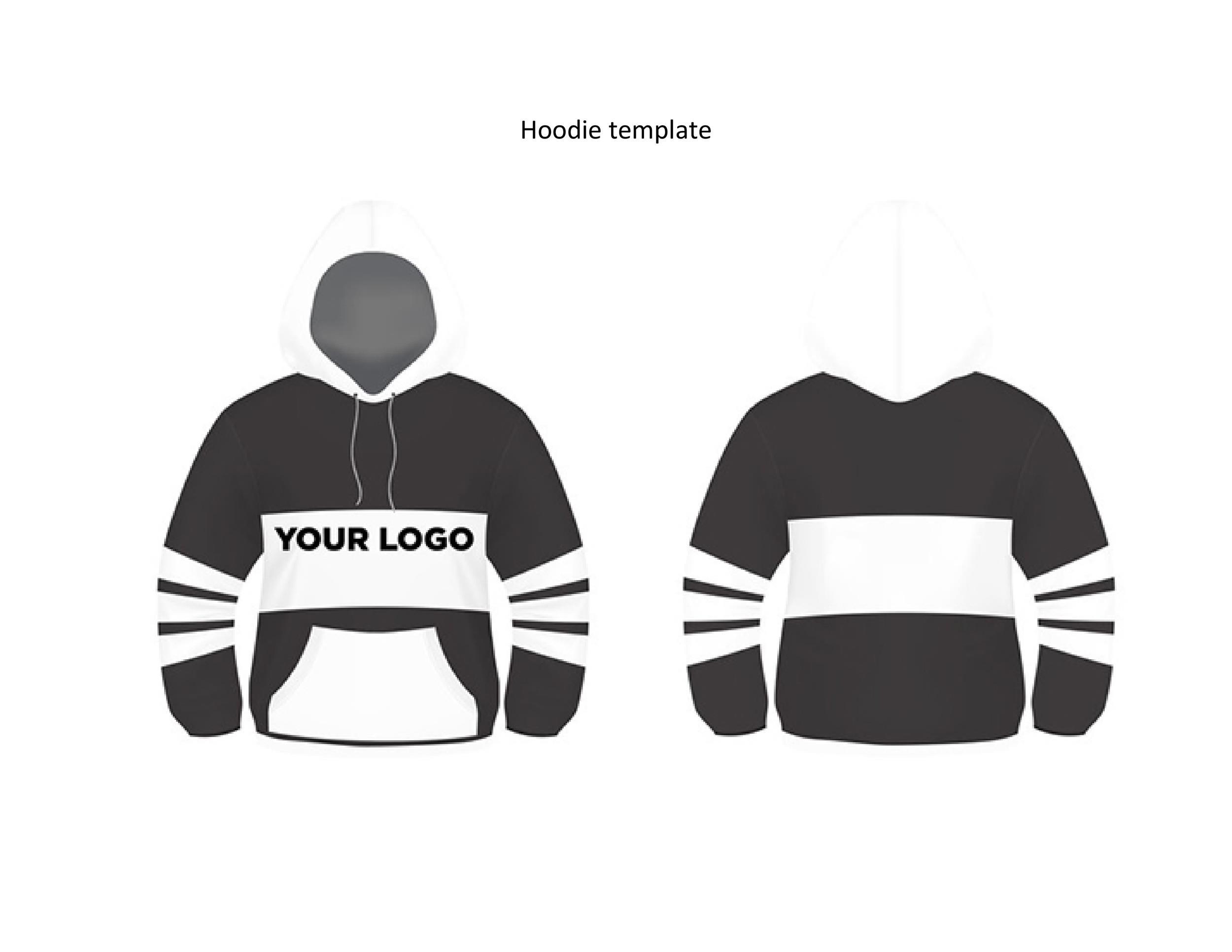 Free hoodie template 22