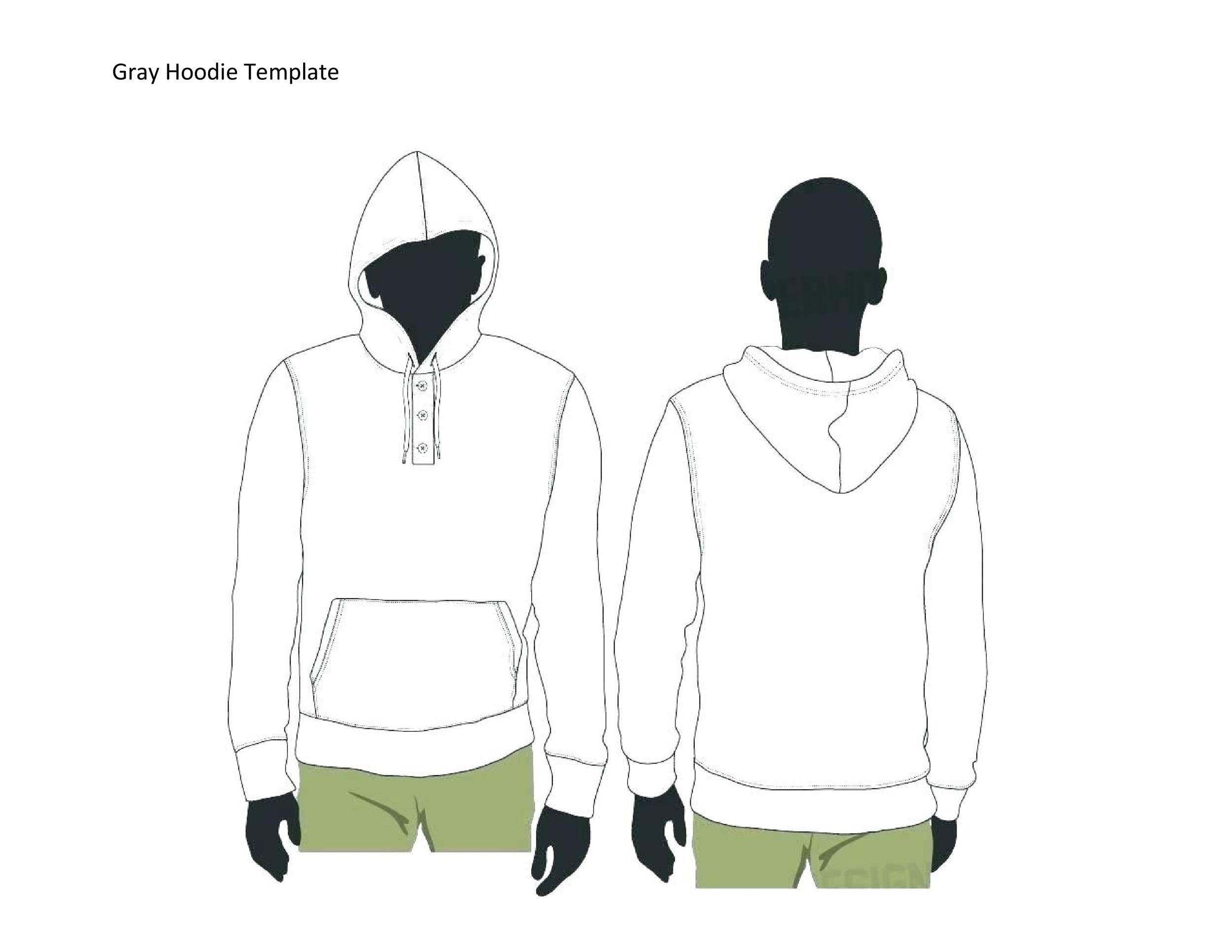 Free hoodie template 24