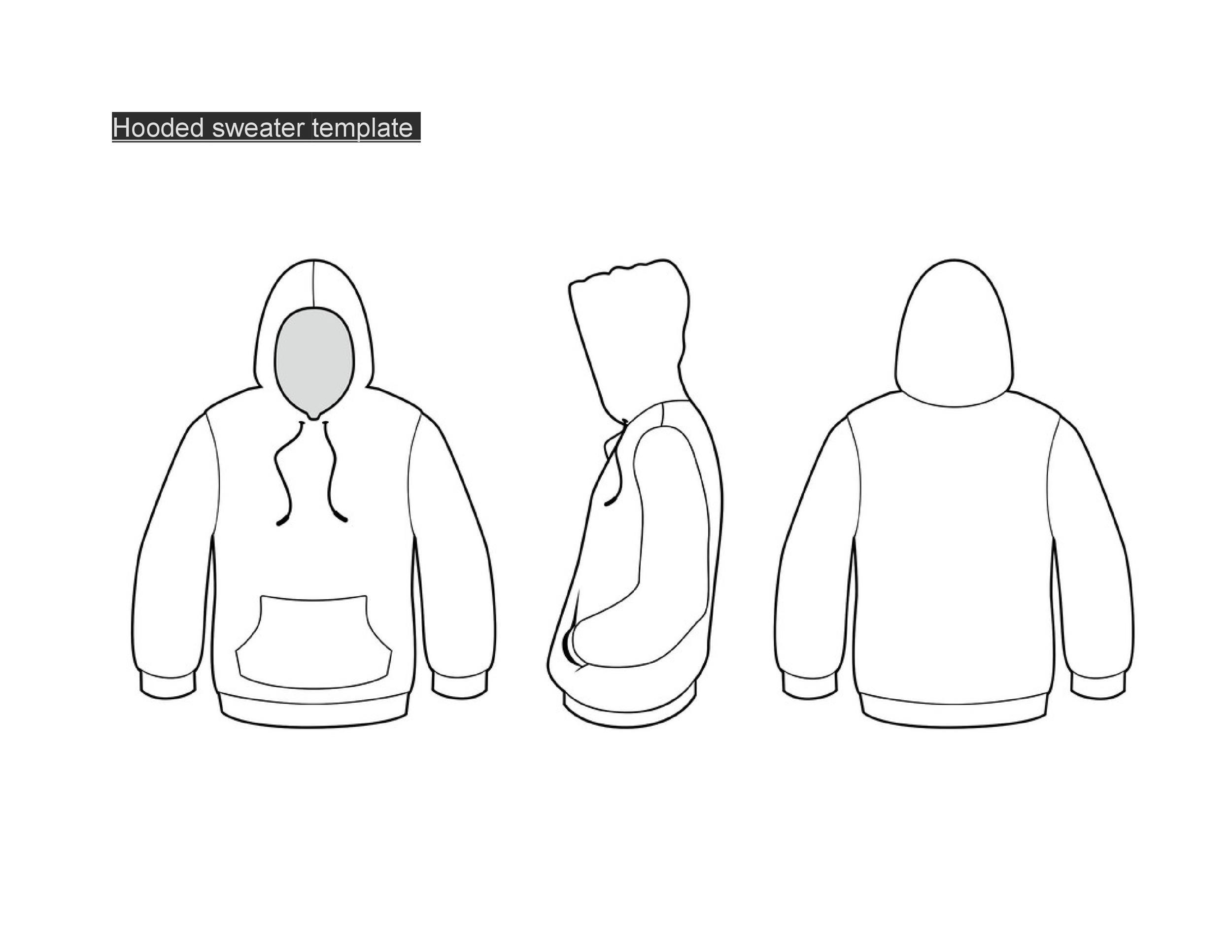 Free hoodie template 30