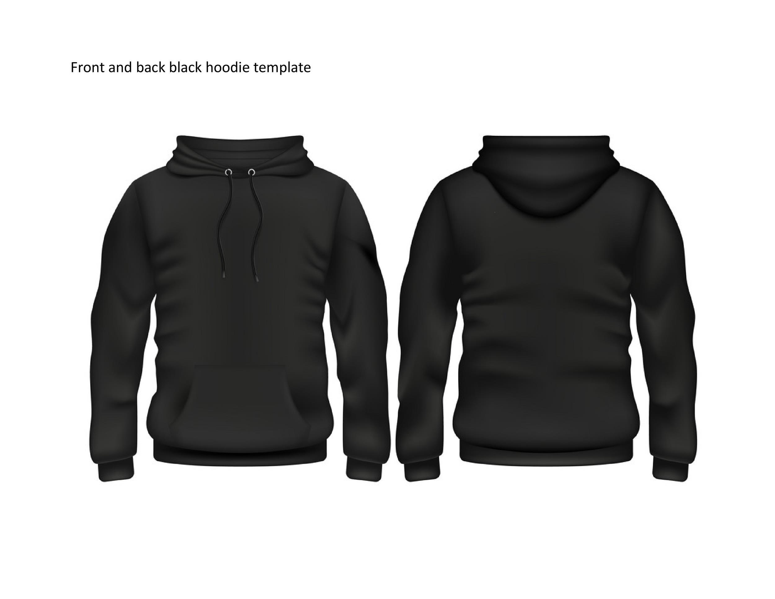 Free hoodie template 31