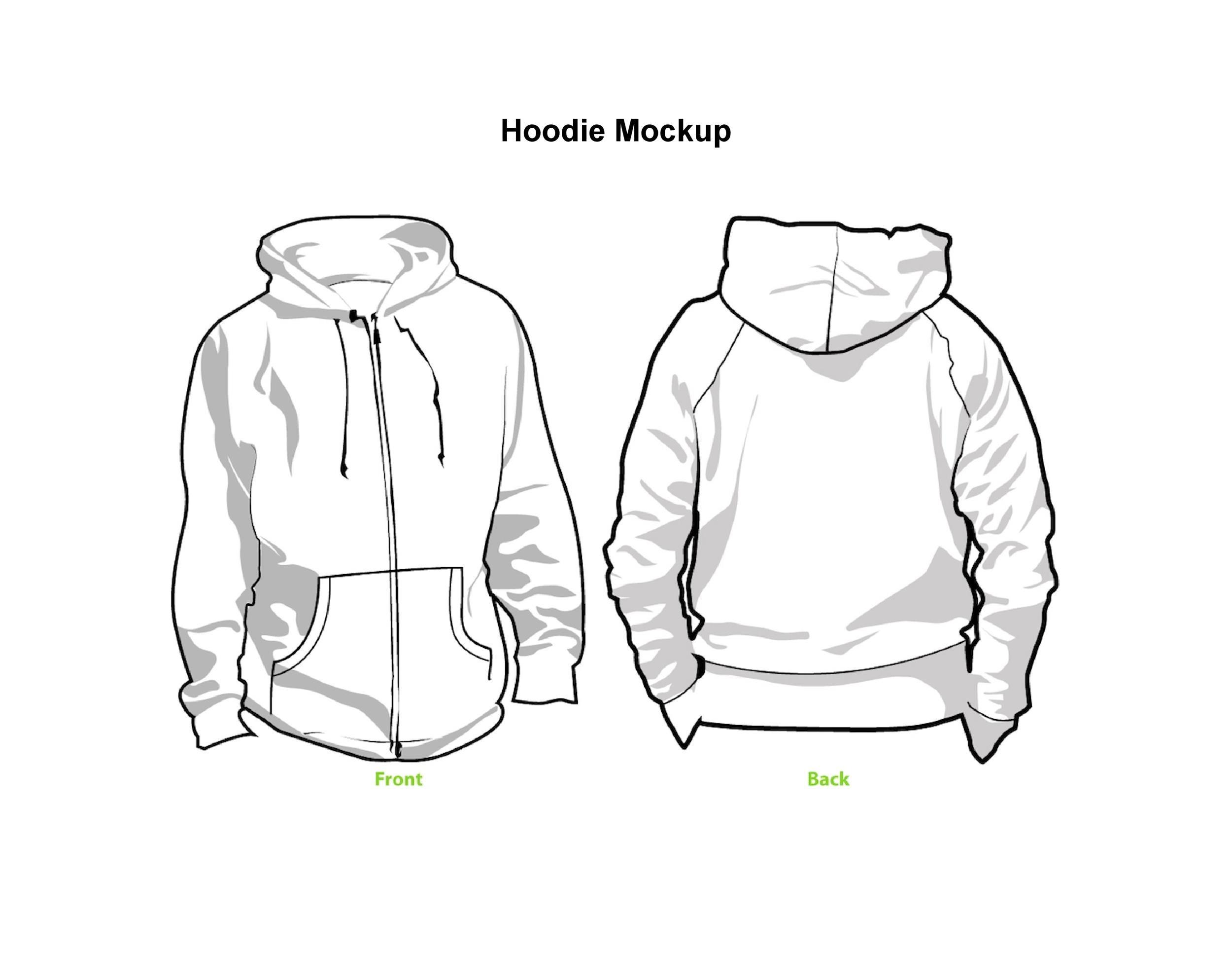 Free hoodie template 33