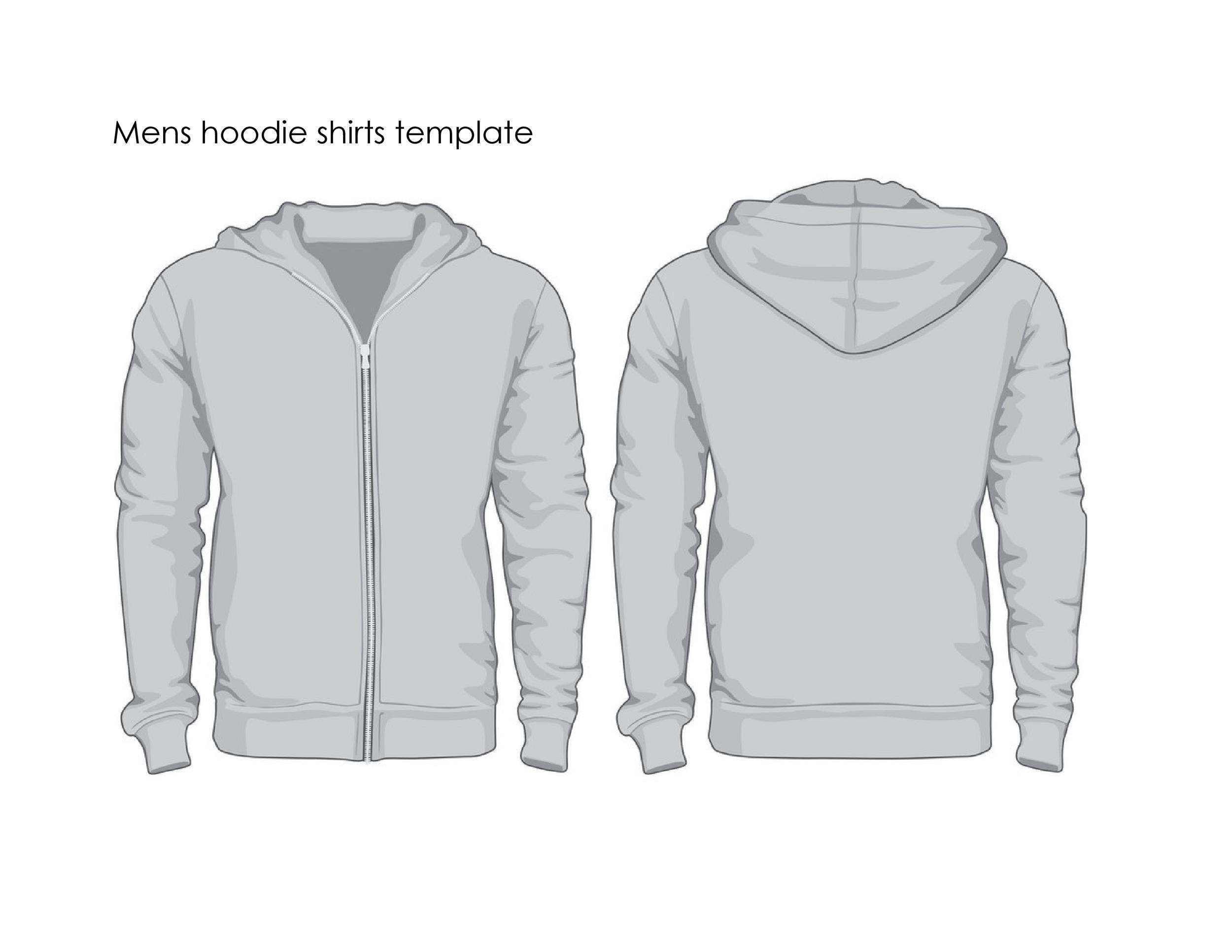 Free hoodie template 34