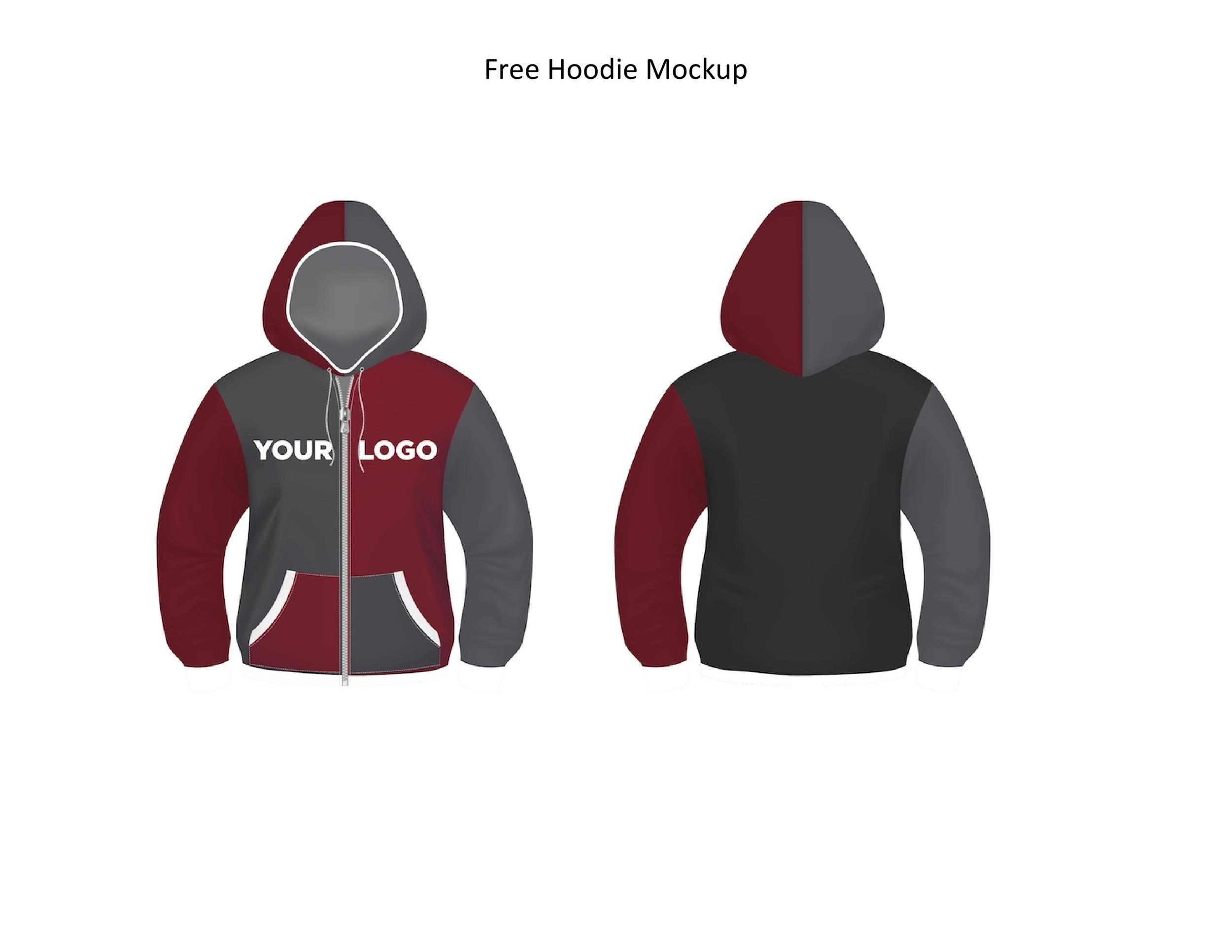 Free hoodie template 37