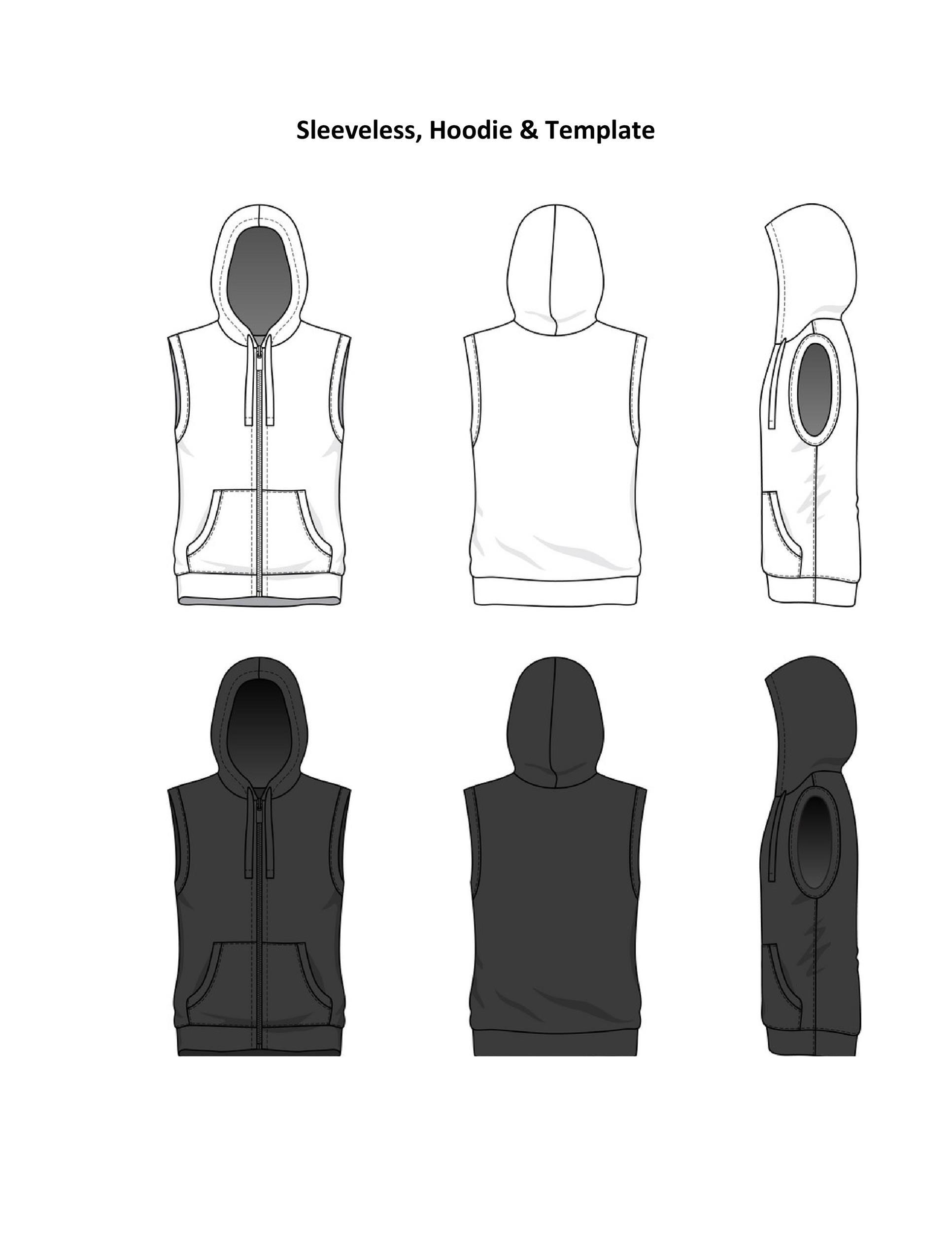 Free hoodie template 38