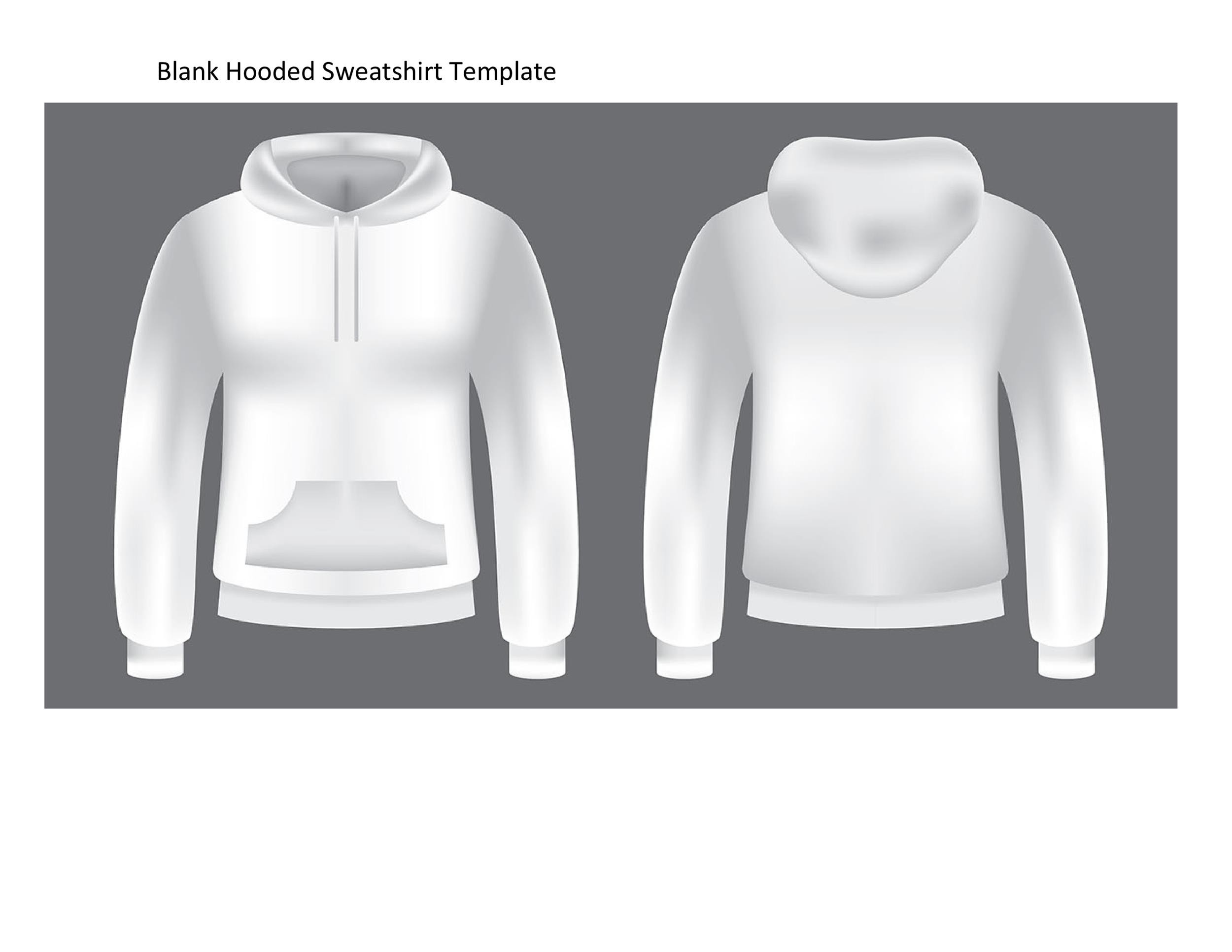 Free hoodie template 39