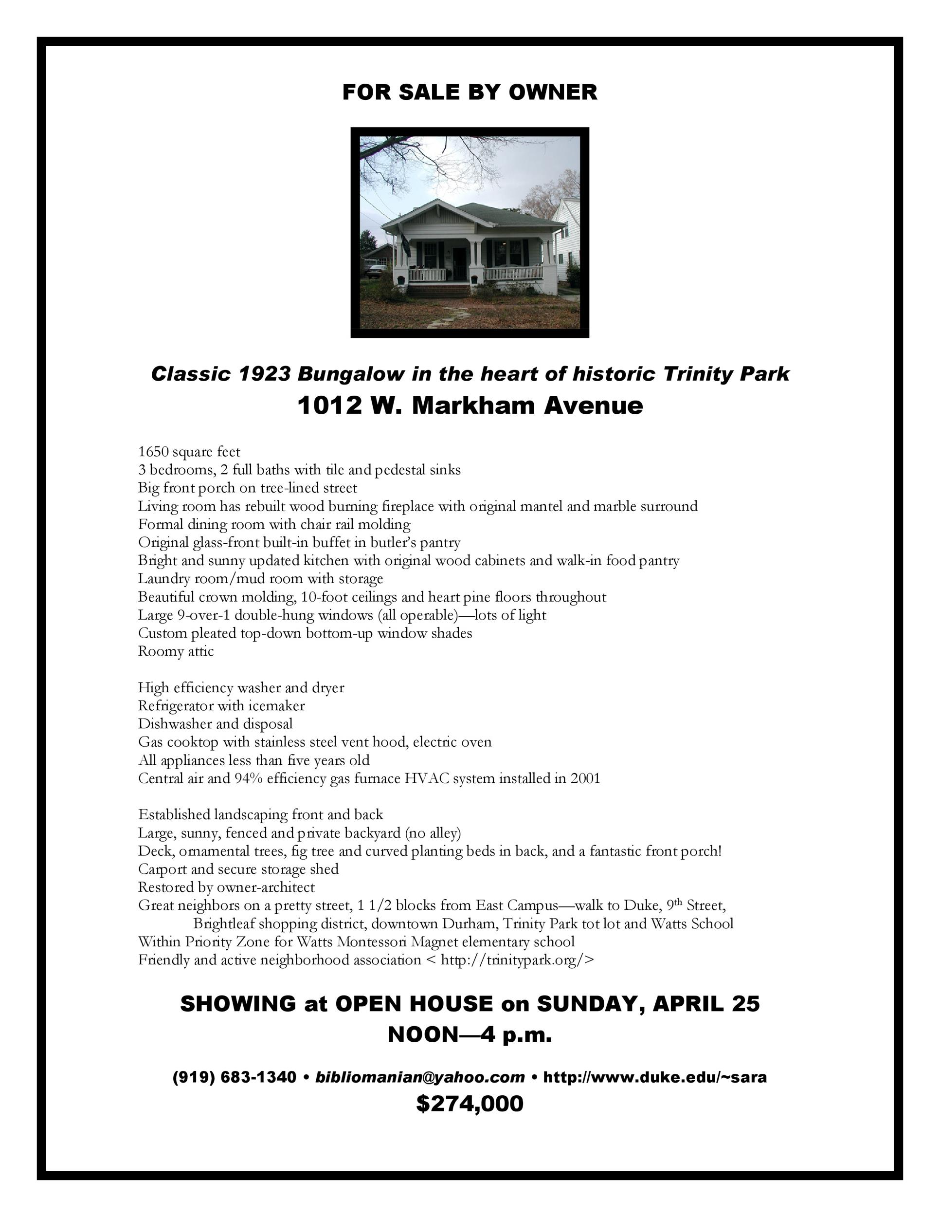 Free house for sale flyer 39
