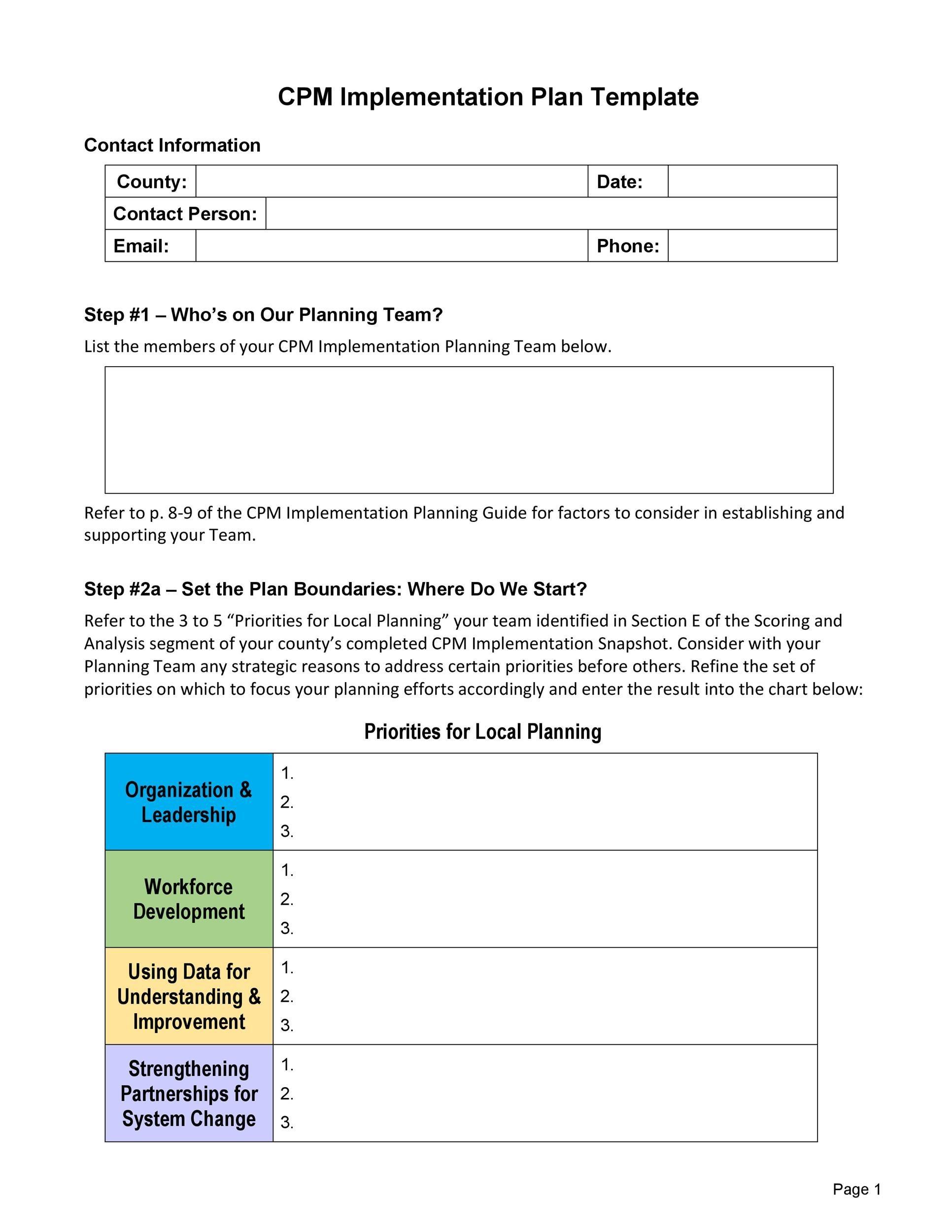 Free implementation plan 06
