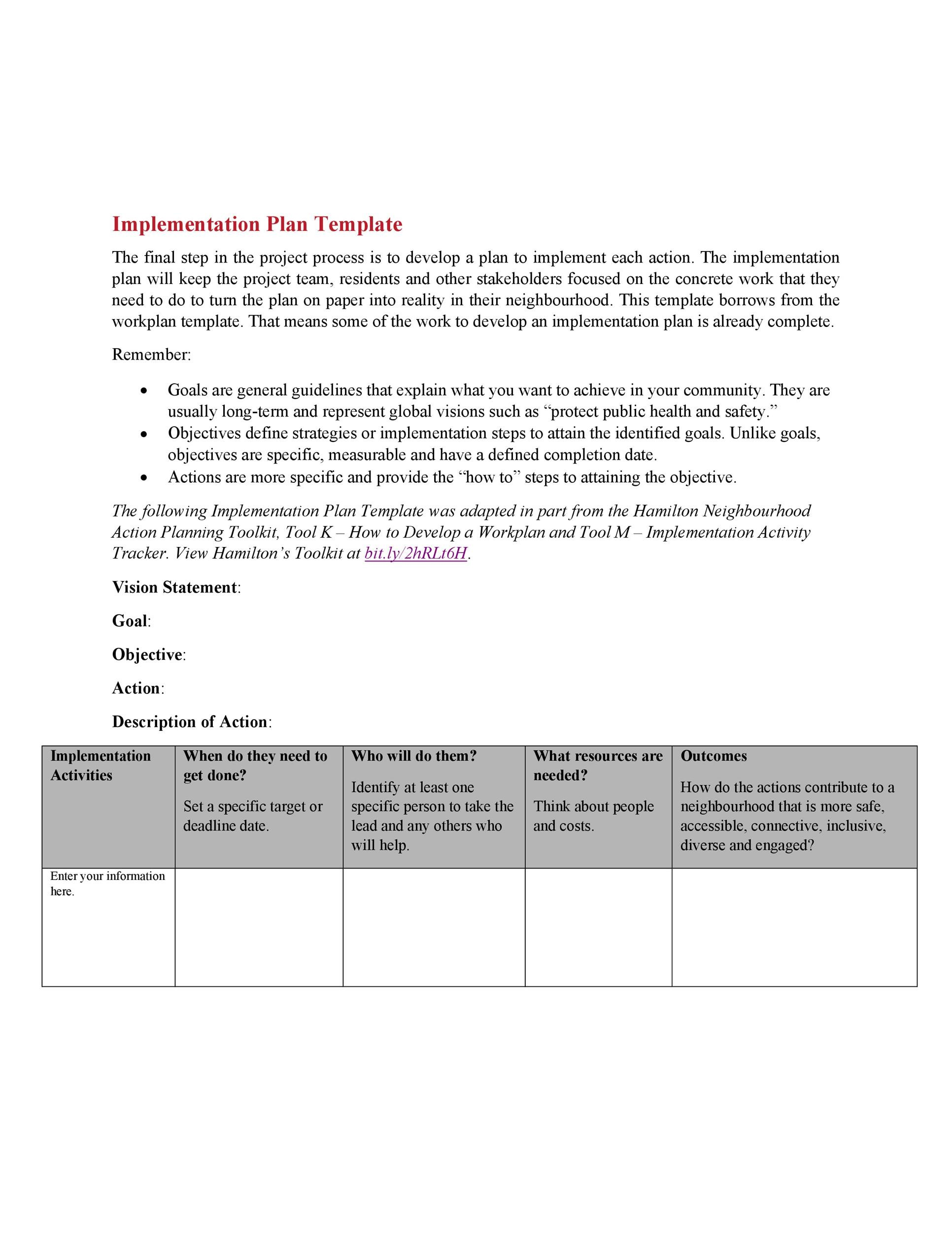 Free implementation plan 07