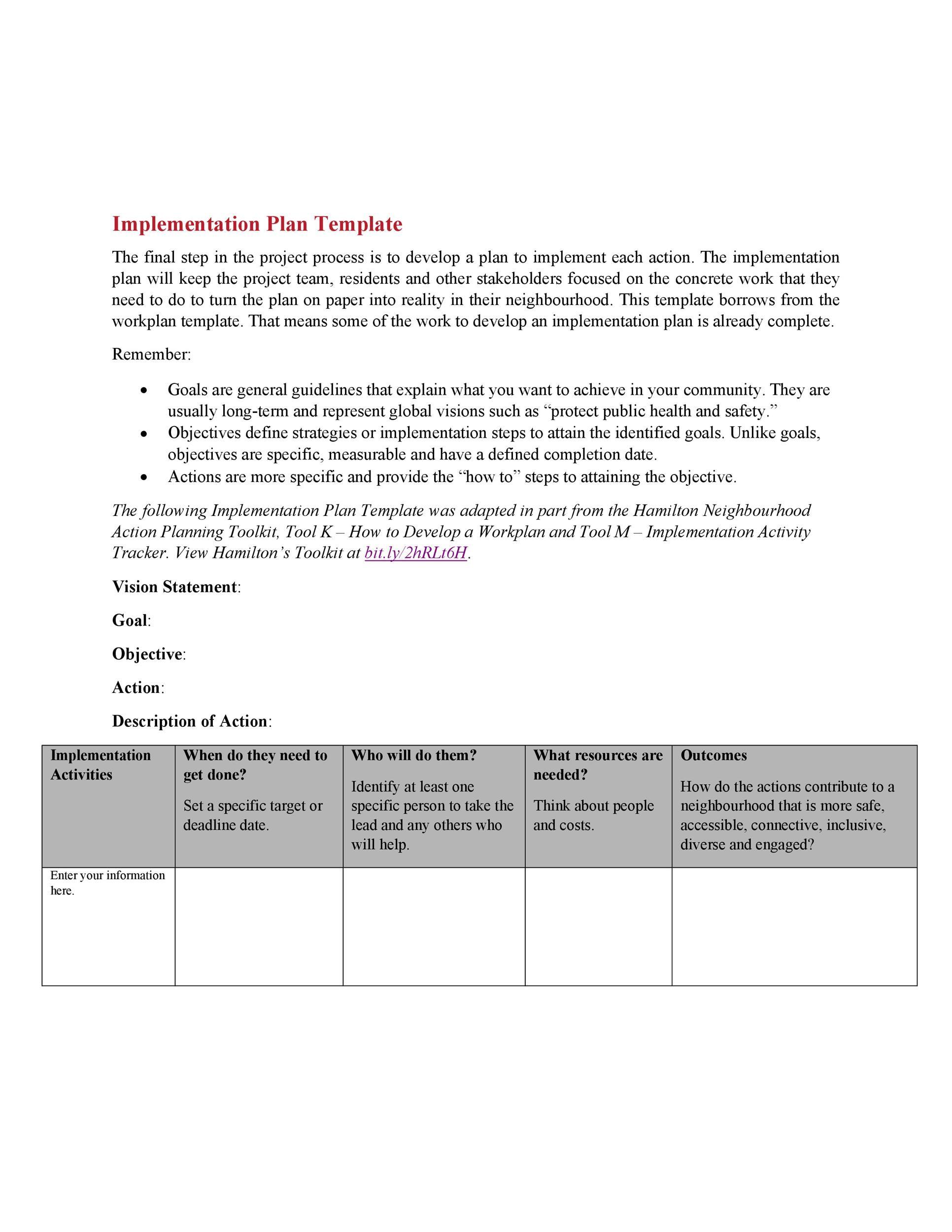 Free implementation plan 07