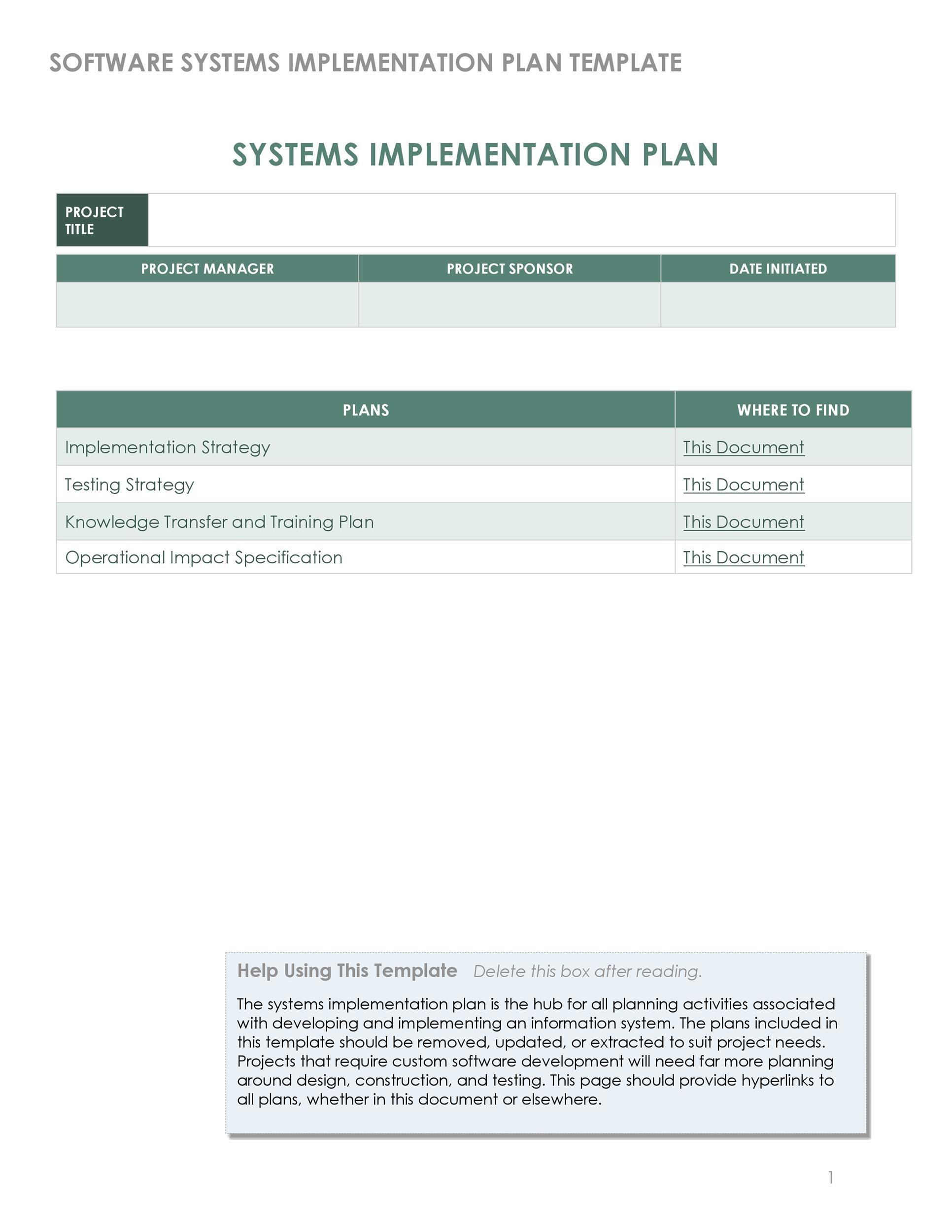 Free implementation plan 12