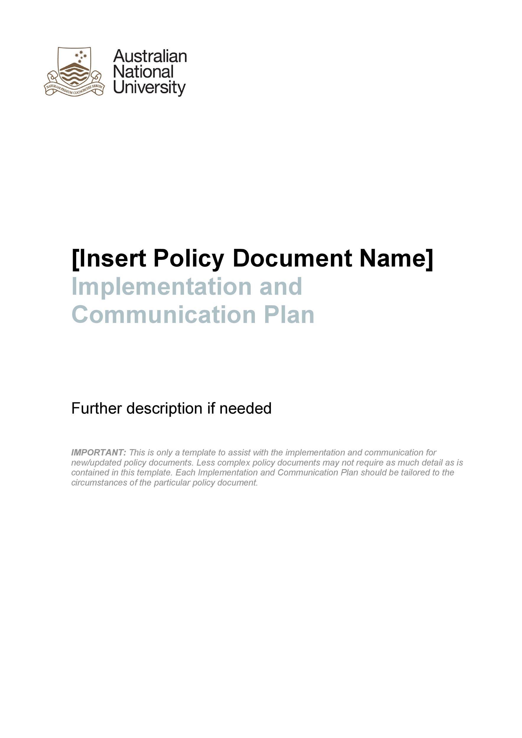 Free implementation plan 13