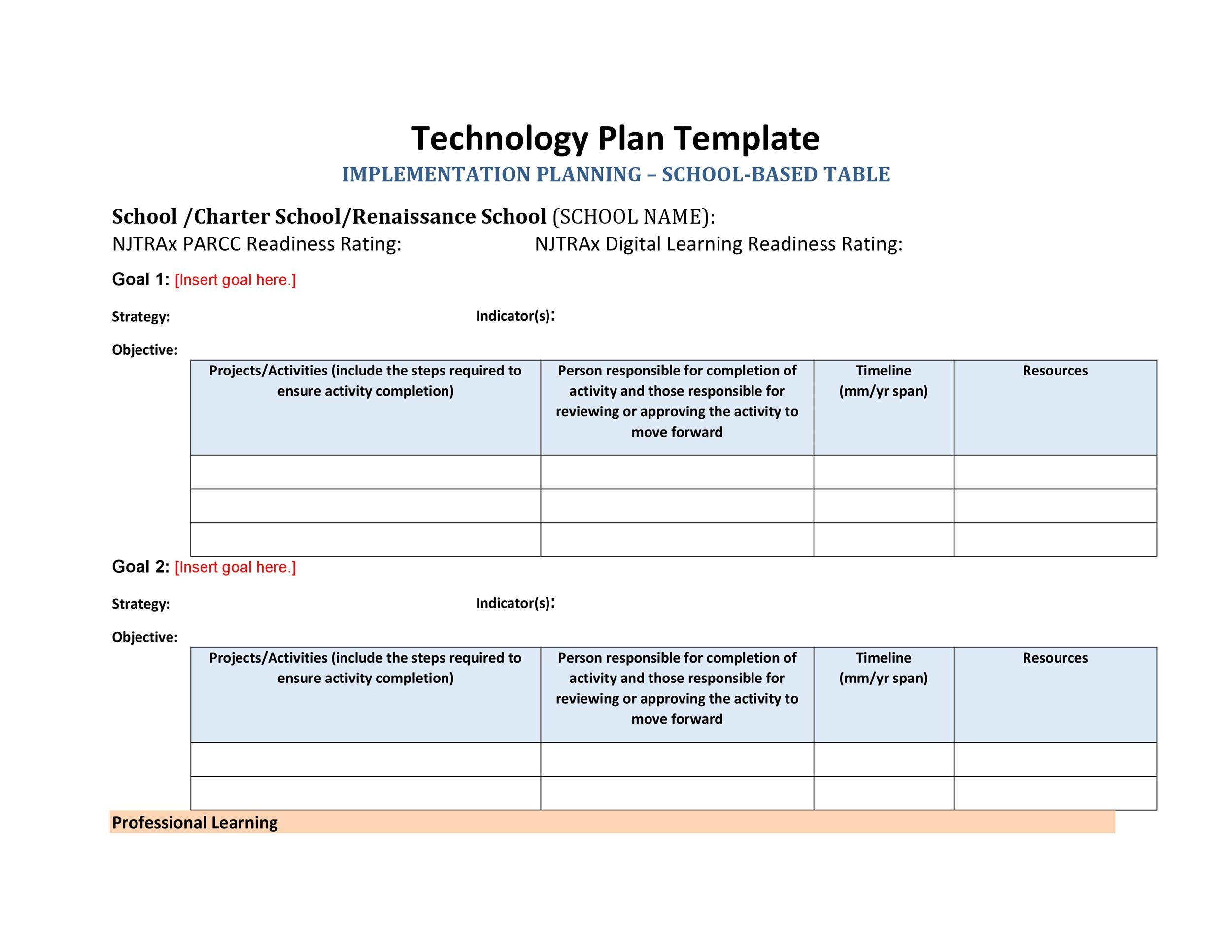 Free implementation plan 15