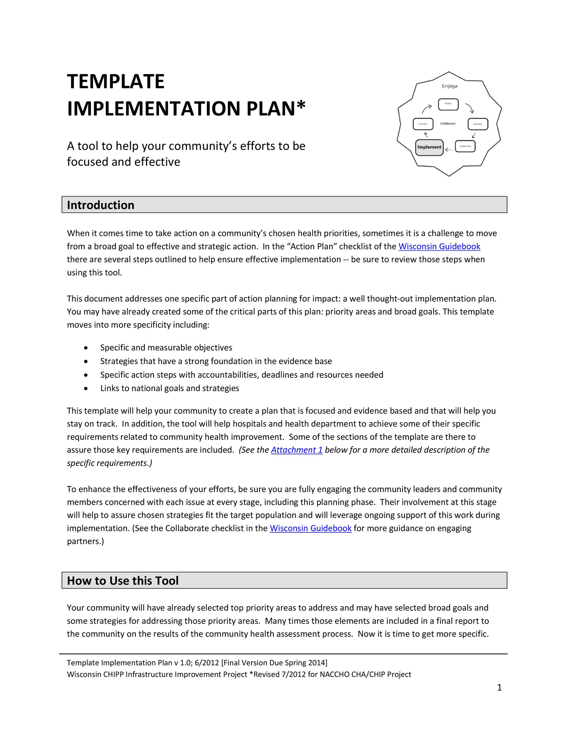 Free implementation plan 25