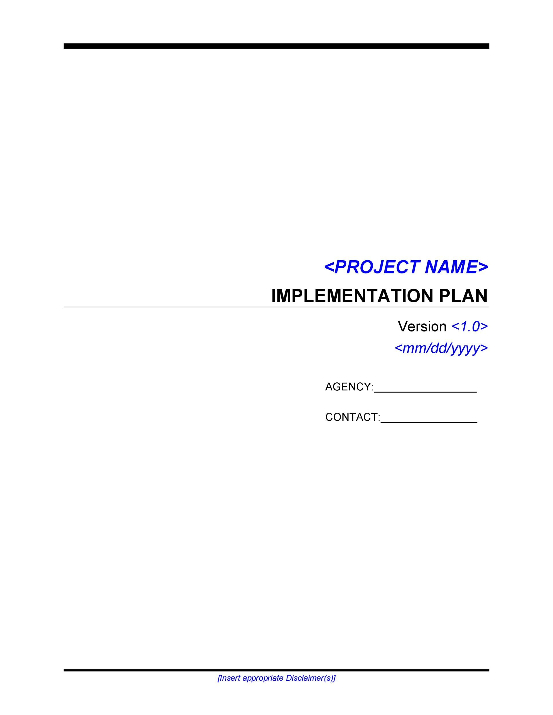 Free implementation plan 26