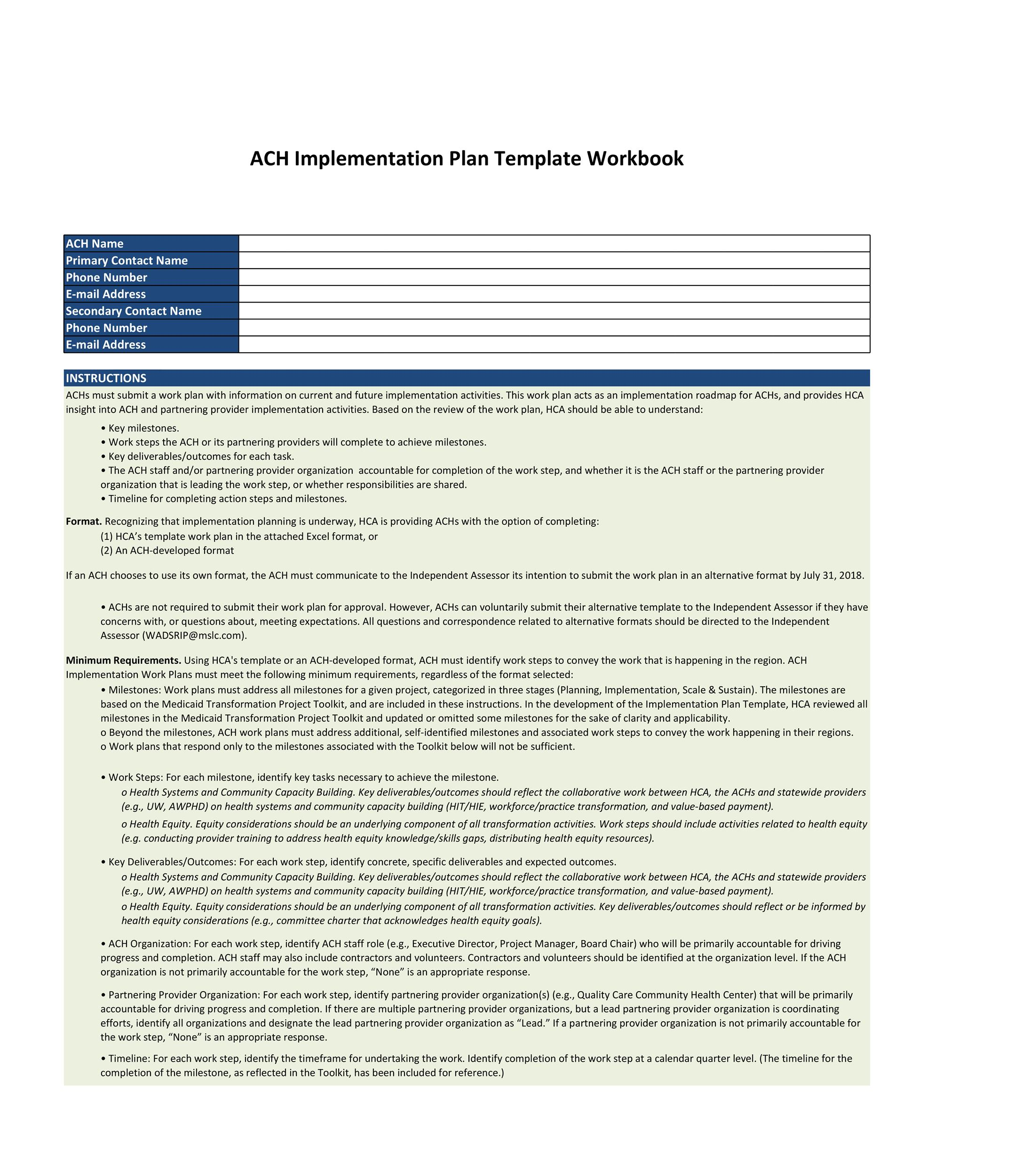 43 Step-by-Step Implementation Plan Templates ᐅ TemplateLab