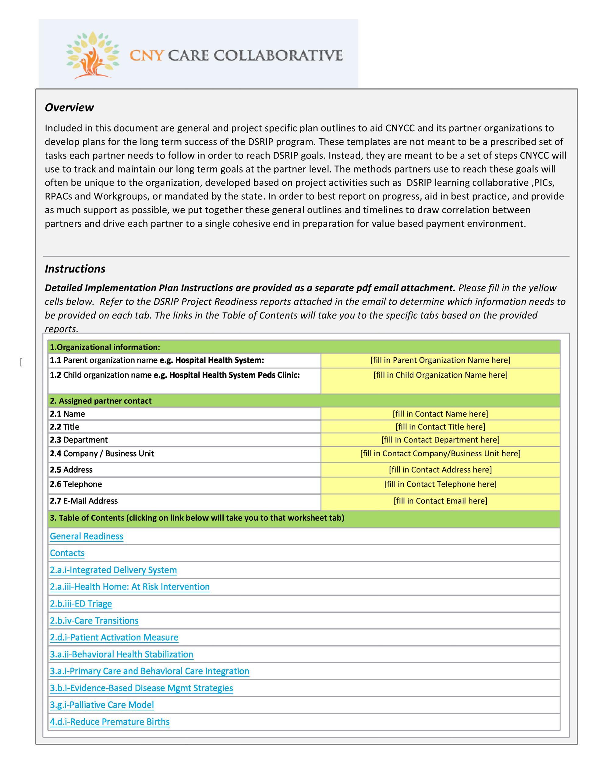 Free implementation plan 30