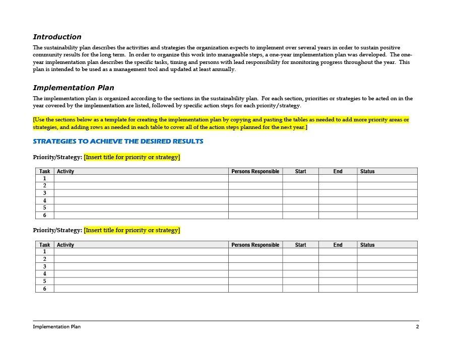 Free implementation plan 39