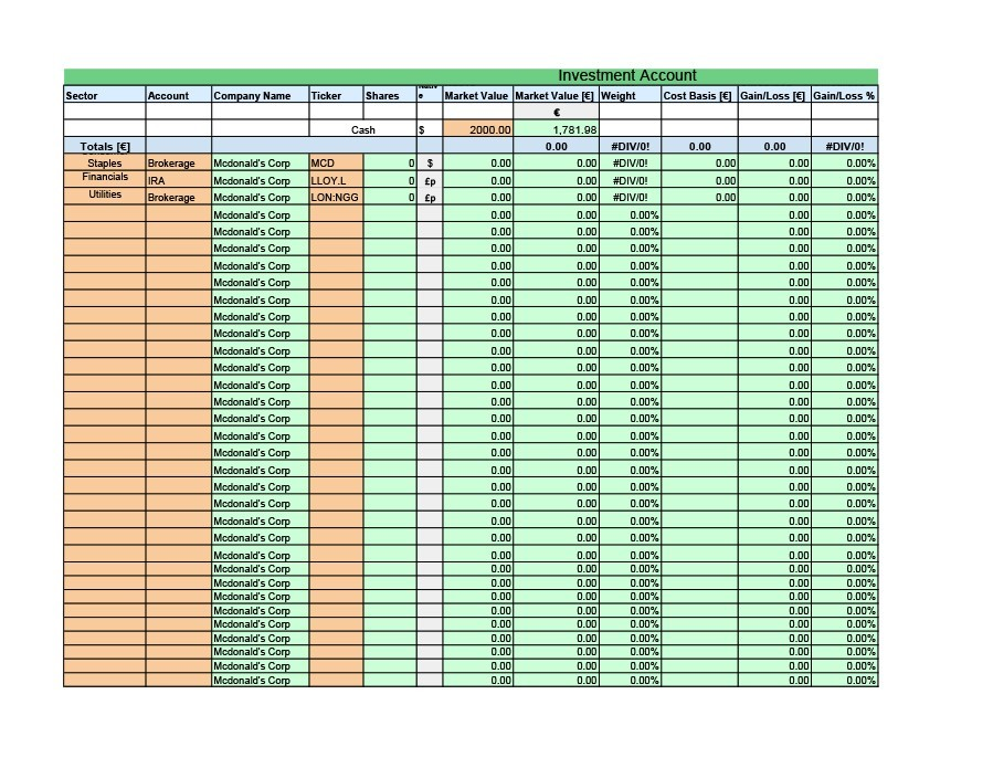 Free investment tracking spreadsheet 08
