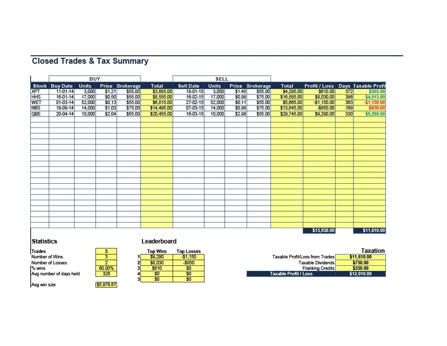 Free investment tracking spreadsheet 14