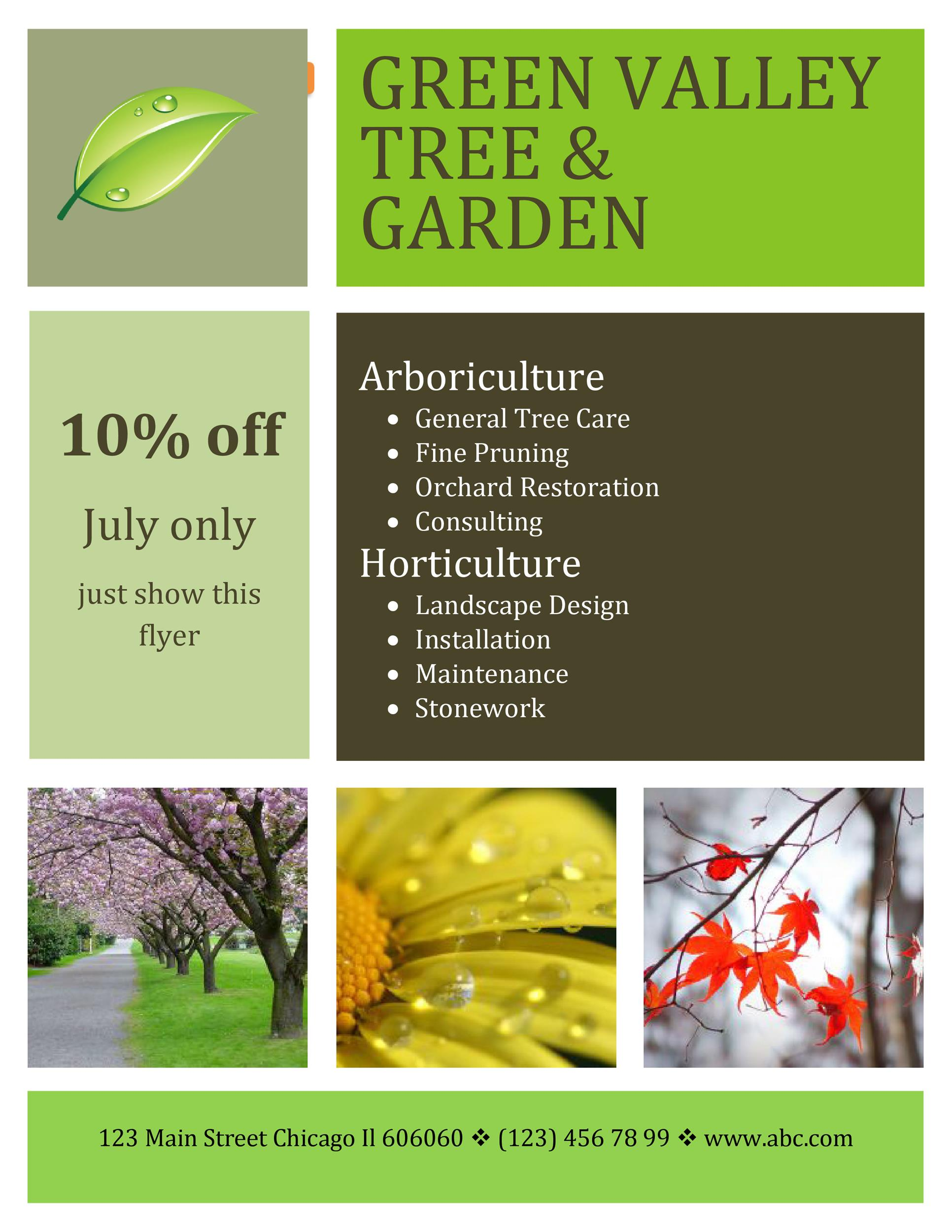 Free lawn care flyer 01