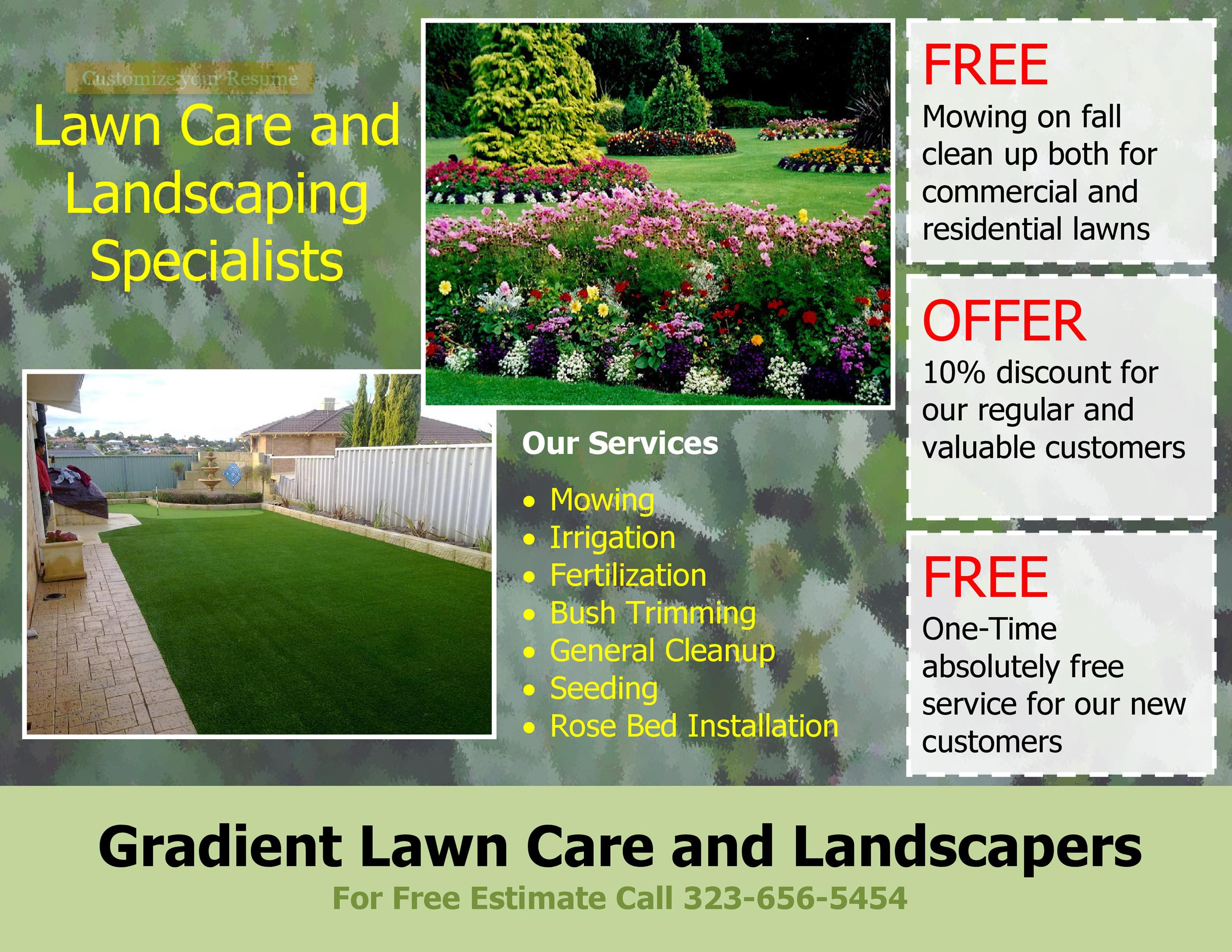 30 Free Lawn Care Flyer Templates Lawn Mower Flyers ᐅ Templatelab