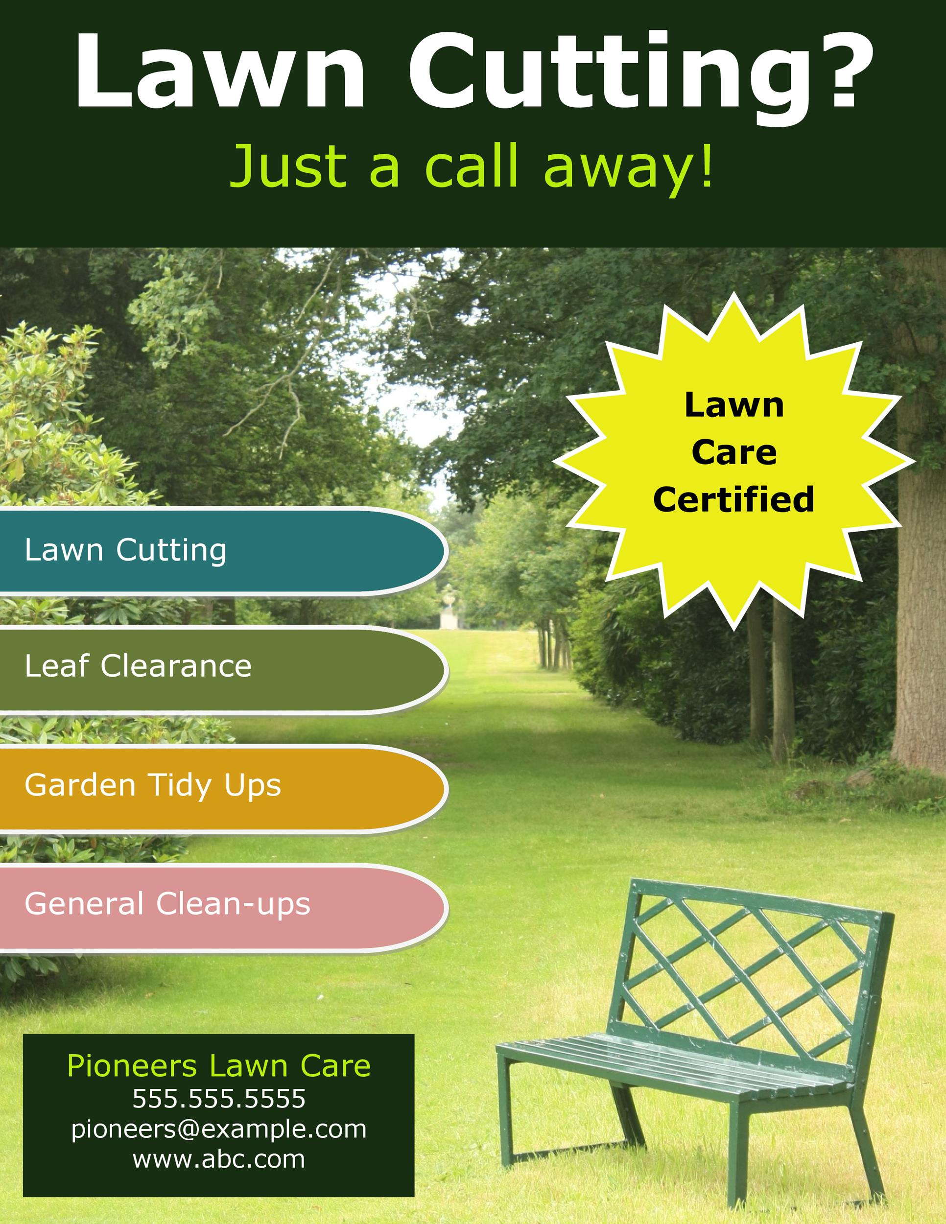 Free lawn care flyer 09