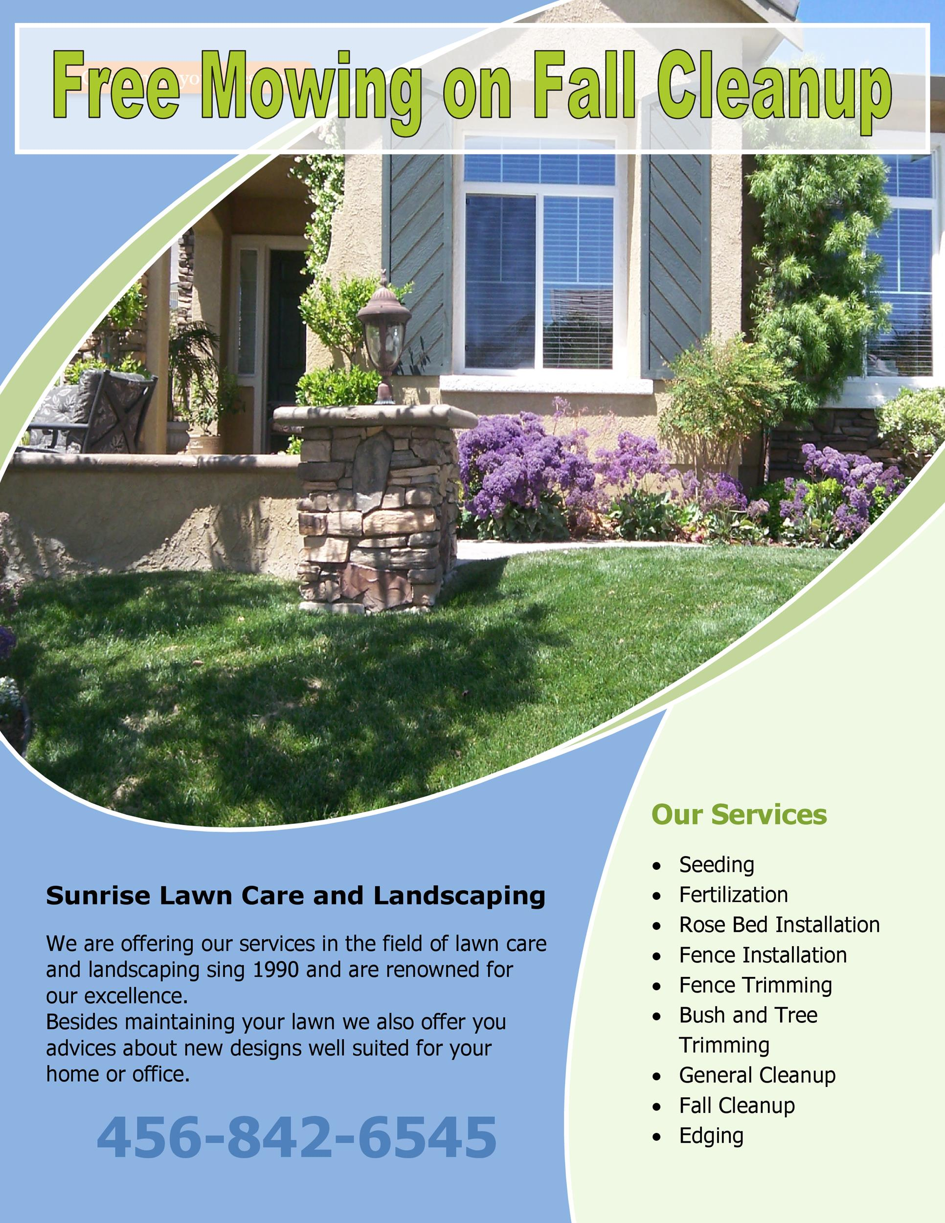 Free lawn care flyer 10