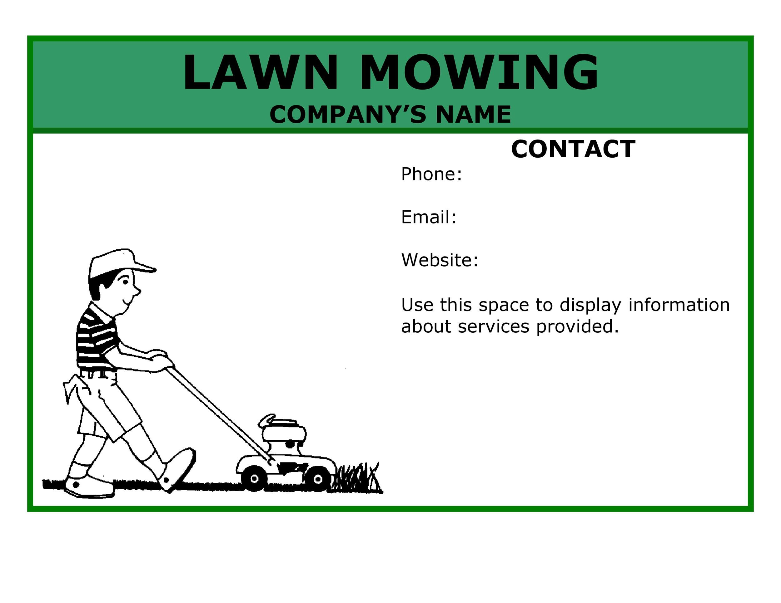 Free lawn care flyer 13