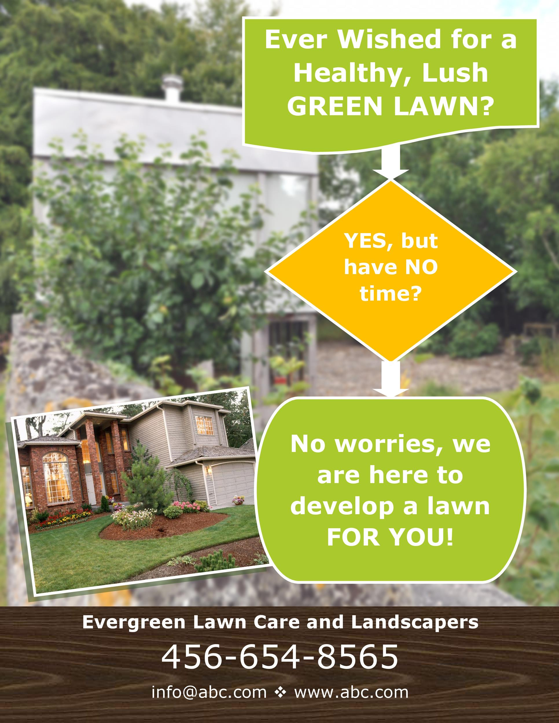 Free lawn care flyer 14