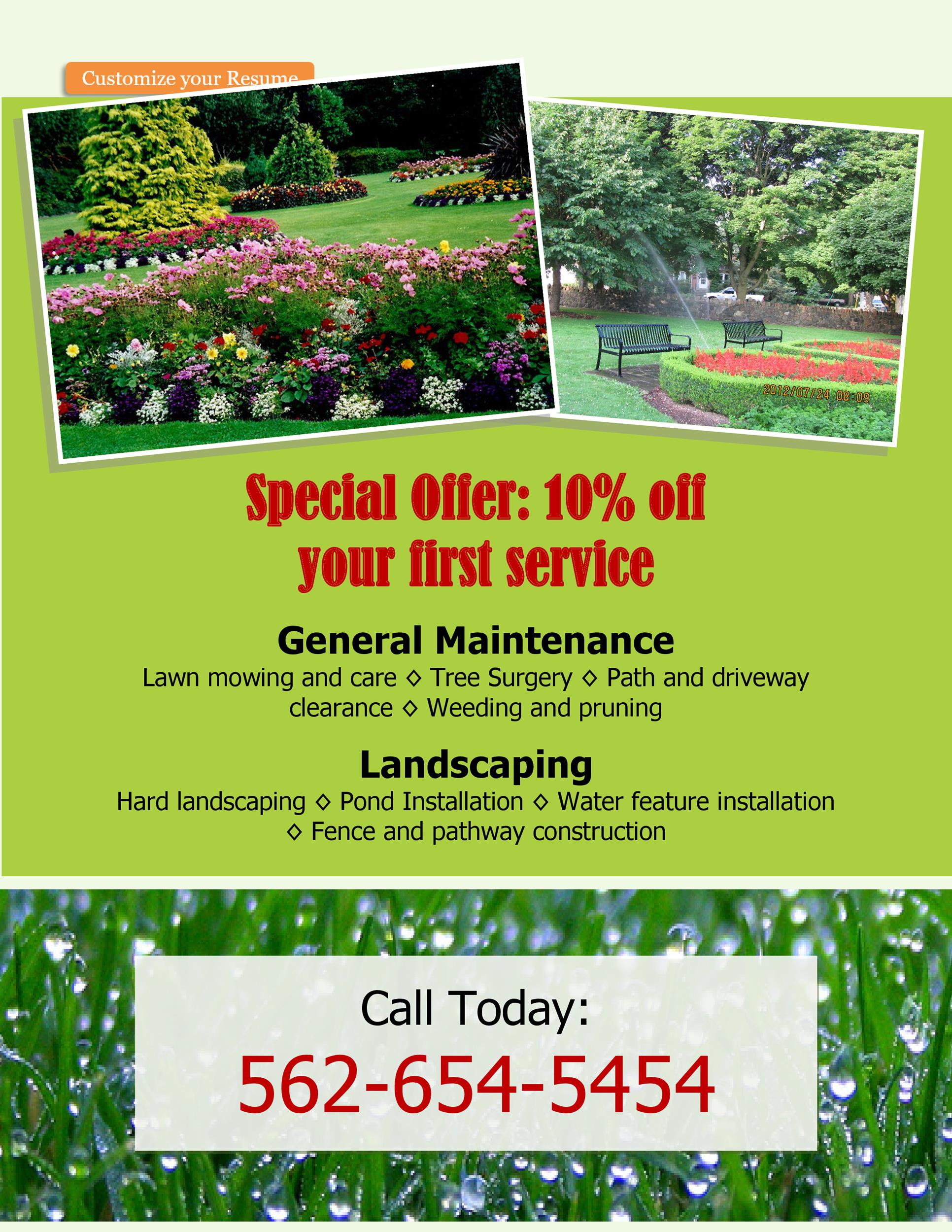 Free lawn care flyer 16