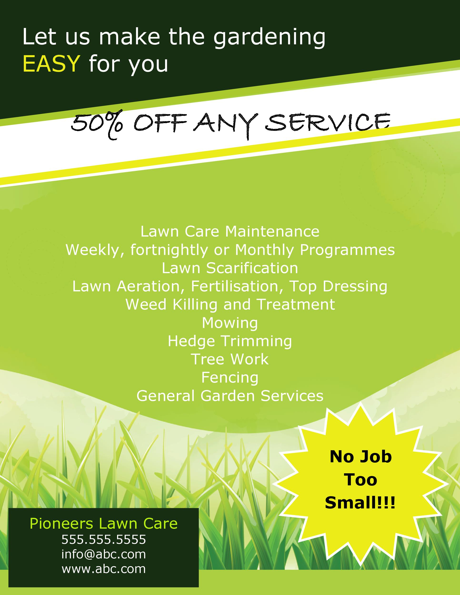 Free lawn care flyer 17