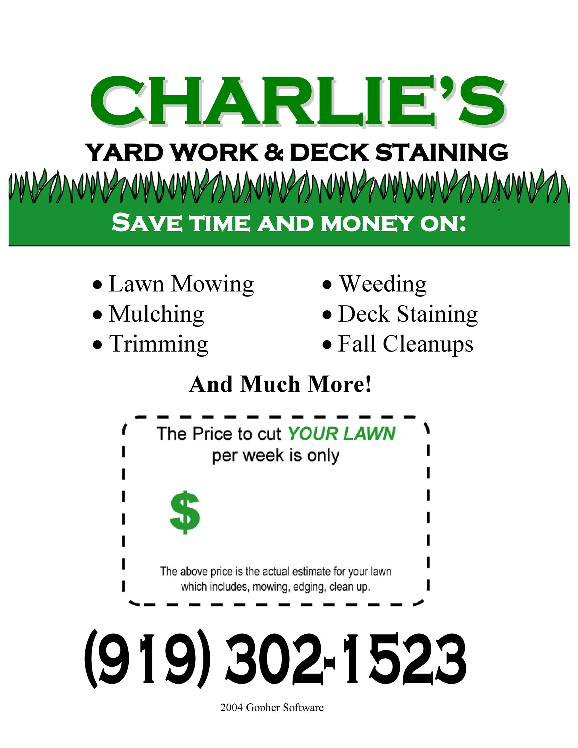 Free lawn care flyer 18