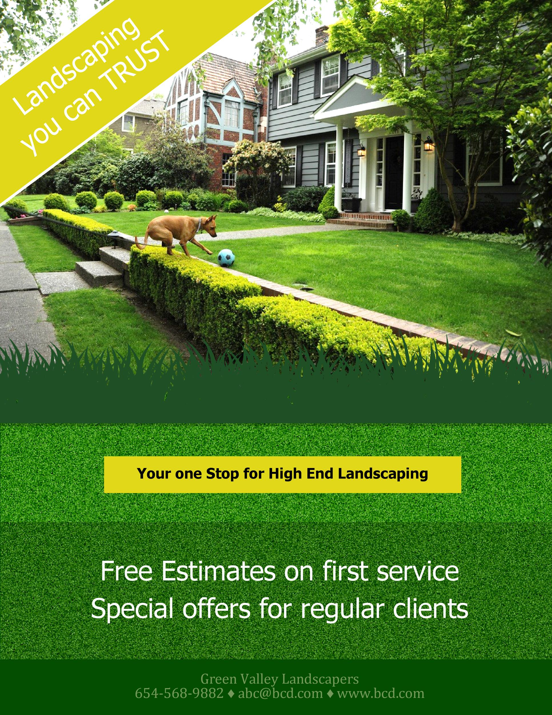 Free lawn care flyer 19