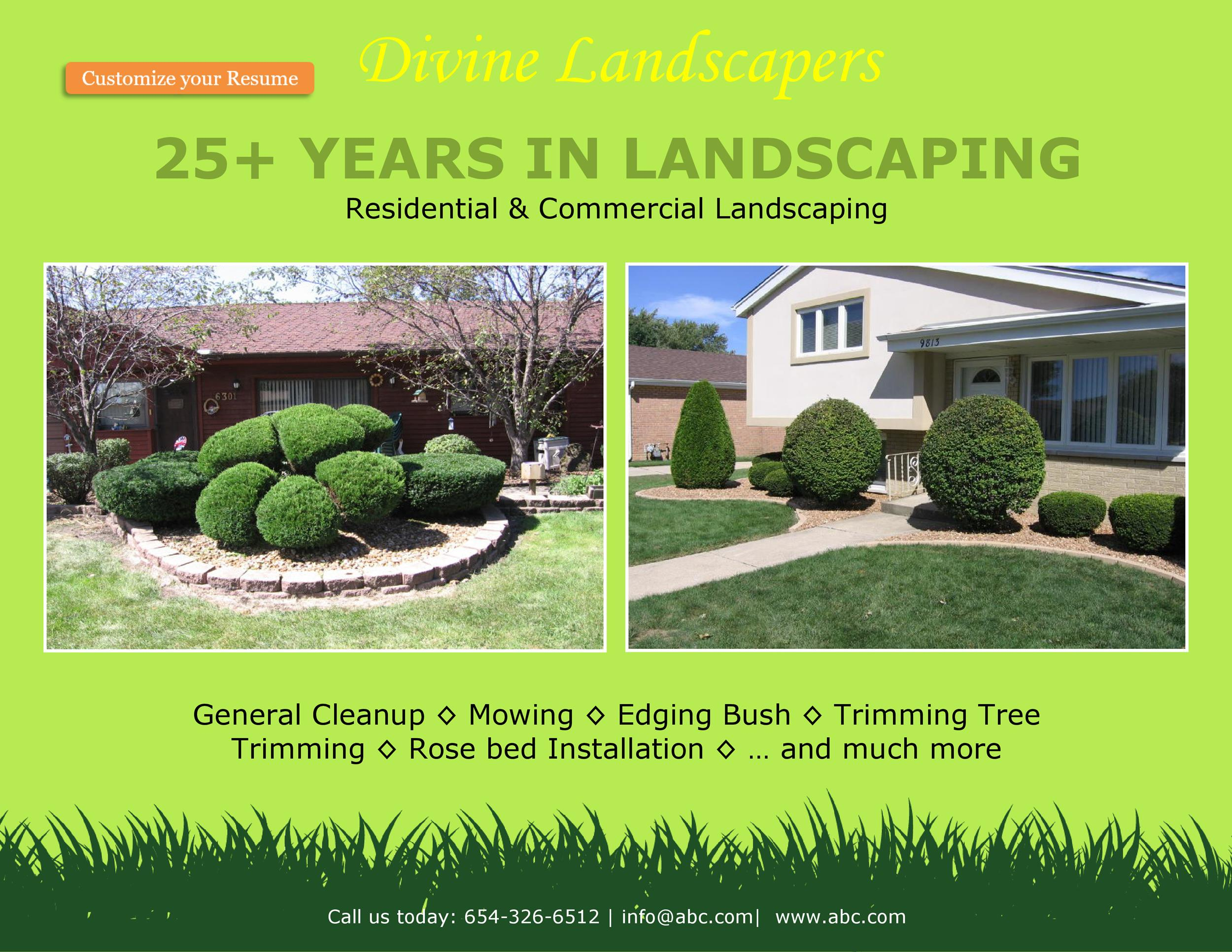 Free lawn care flyer 21