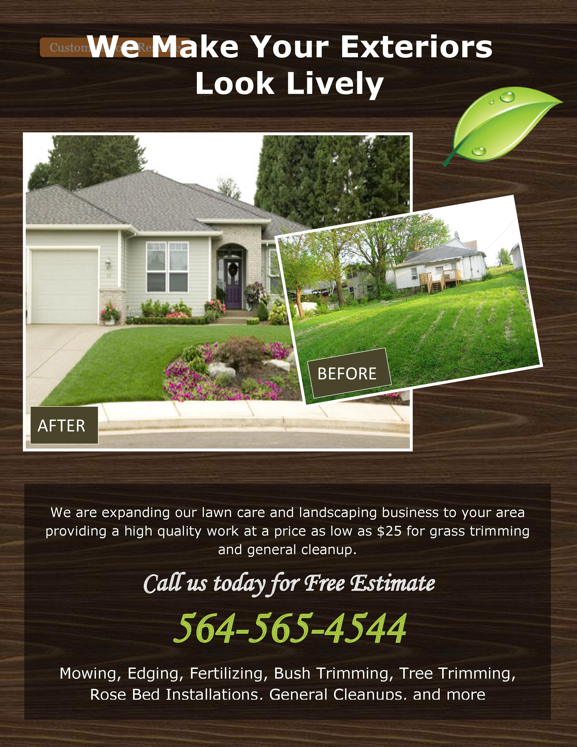 Free lawn care flyer 22