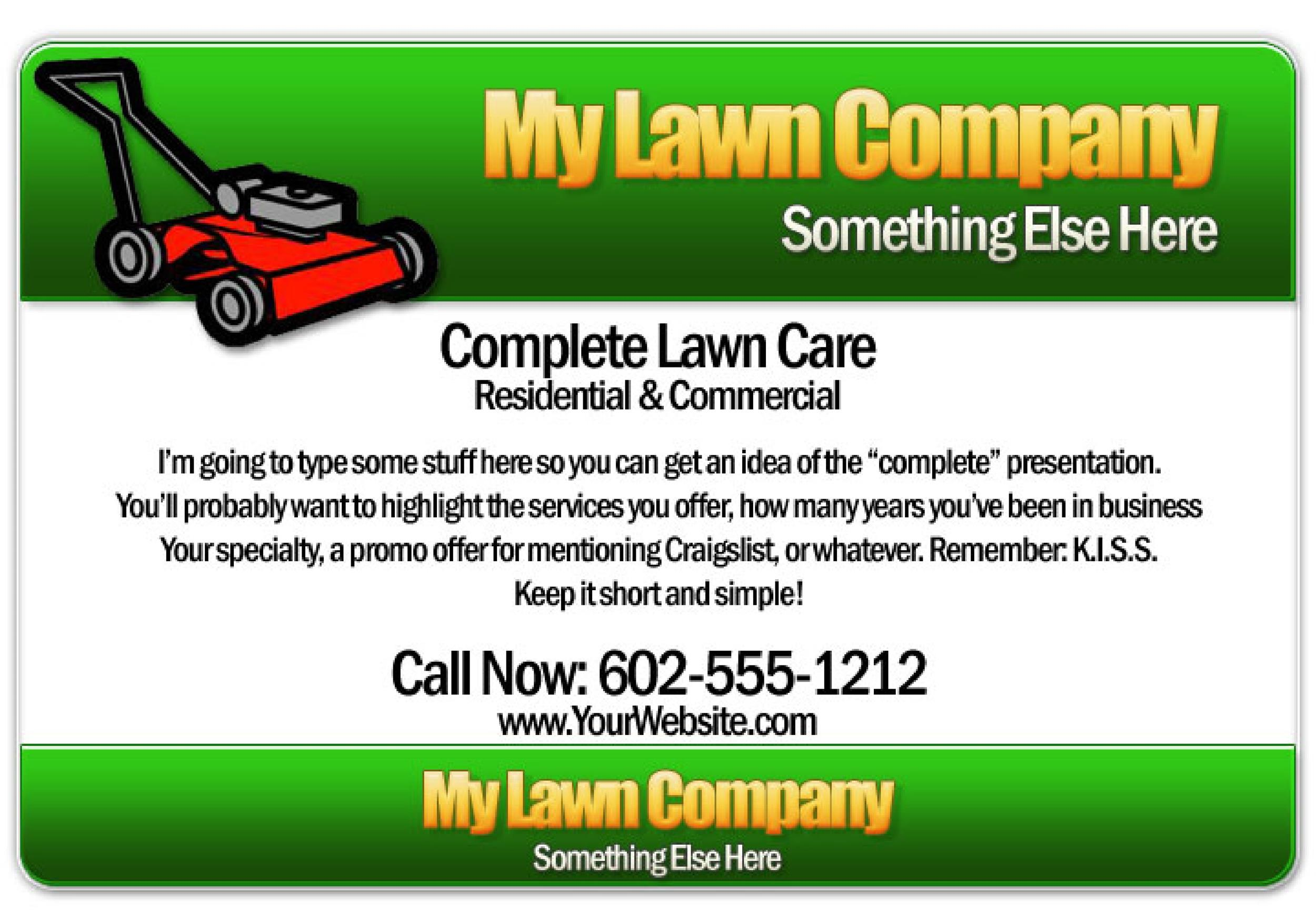 Free lawn care flyer 23