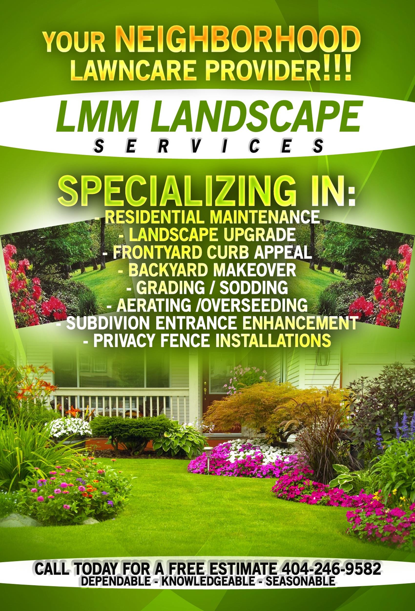 Free lawn care flyer 24