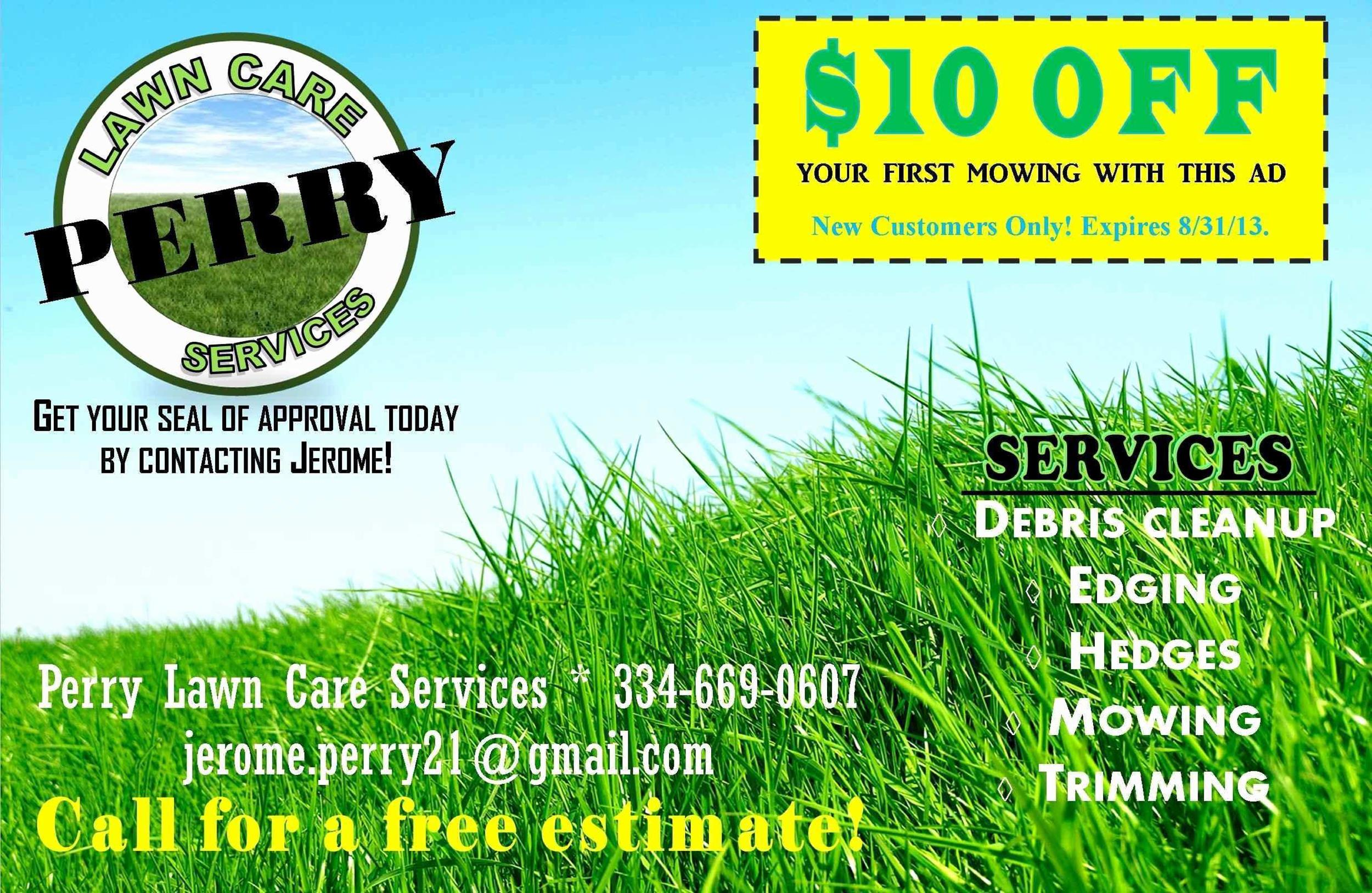 Free lawn care flyer 25