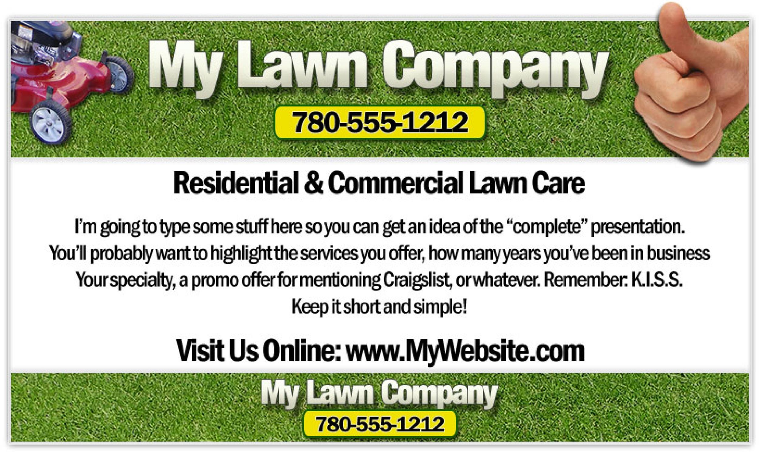 Free lawn care flyer 27