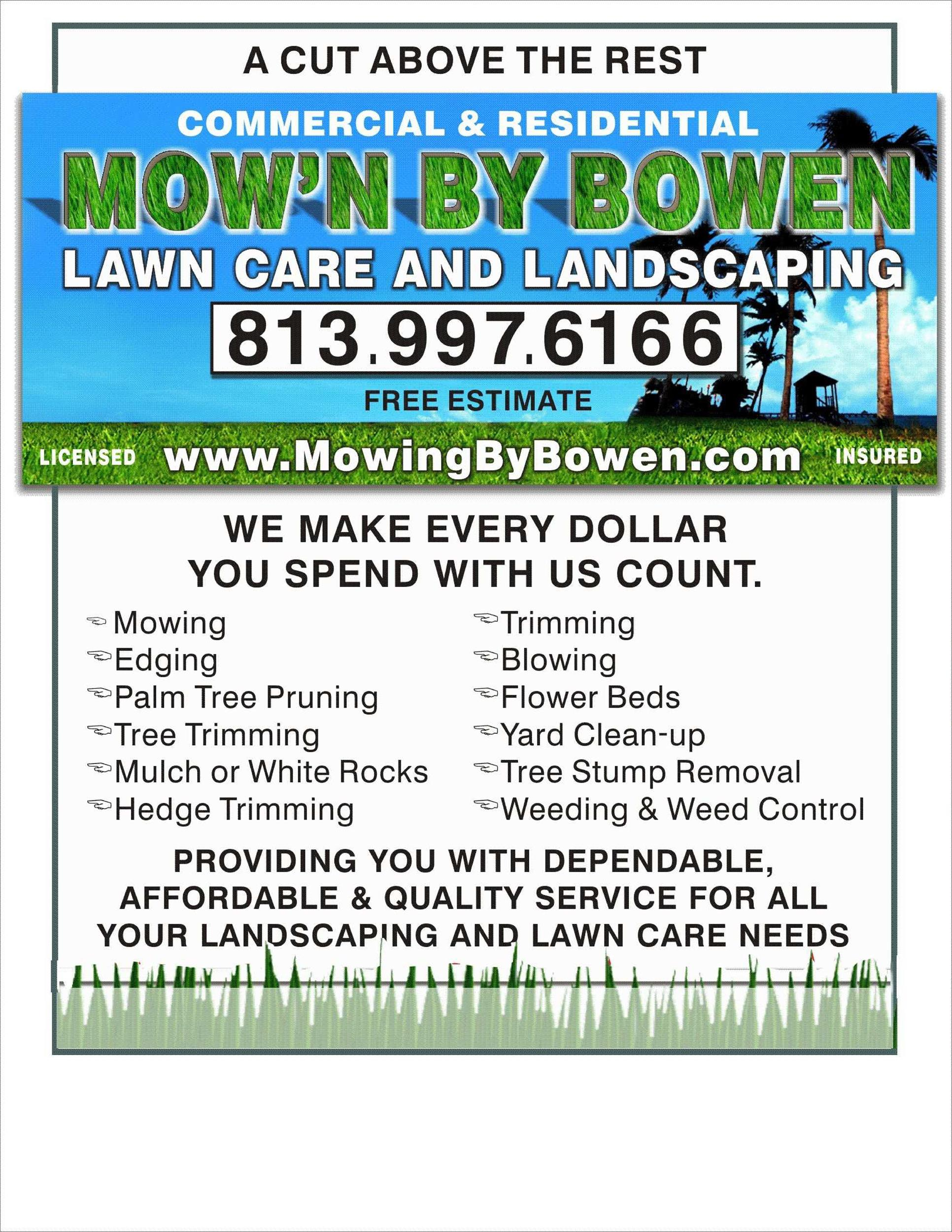 Free lawn care flyer 29